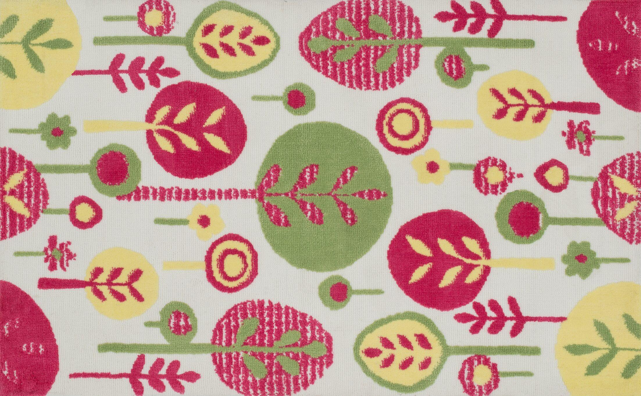 McTee Pink Area Rug Rug Size: Rectangle 2' x 3'
