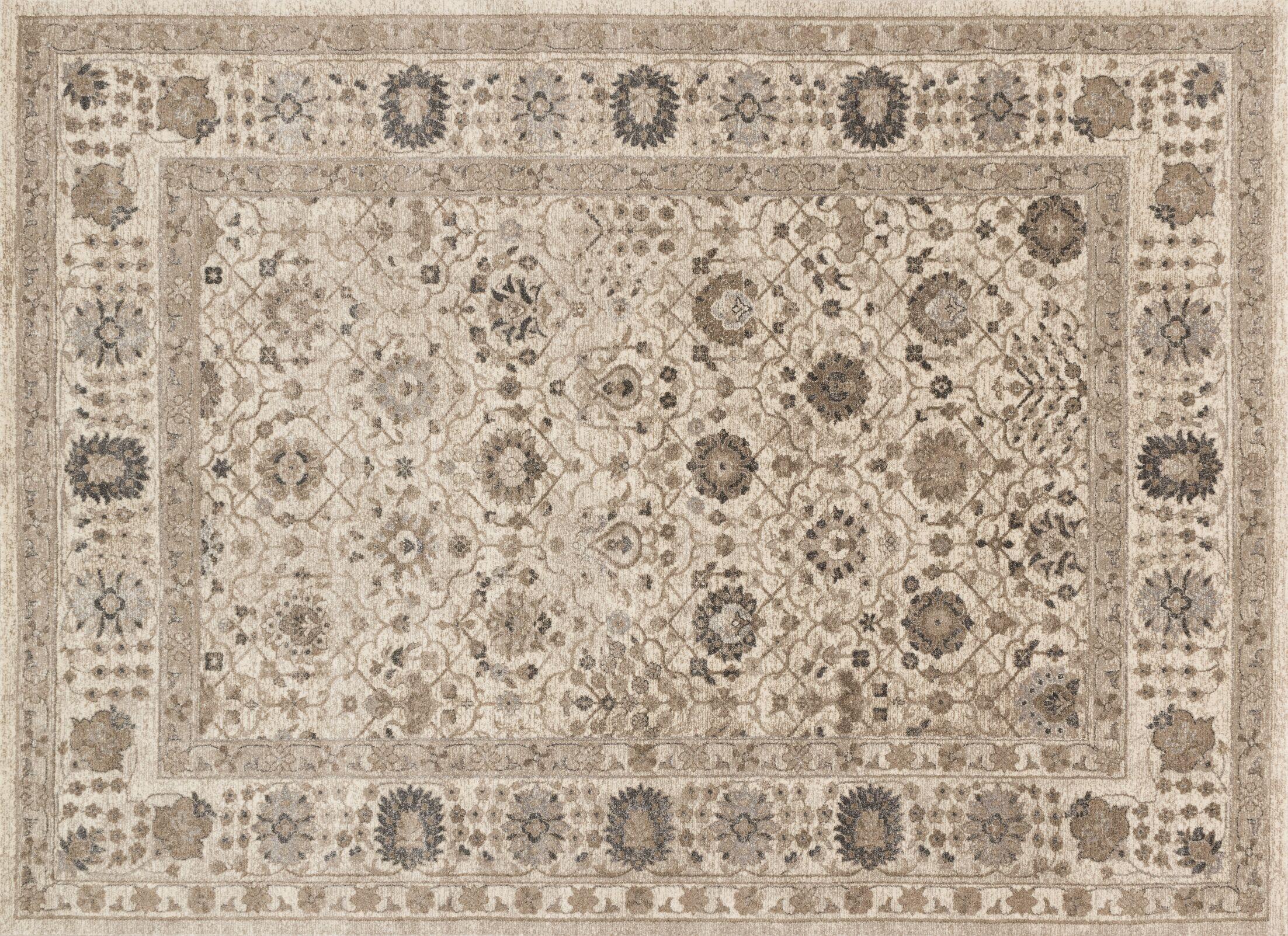 Adelbert Sand Area Rug Rug Size: Rectangle 3'7