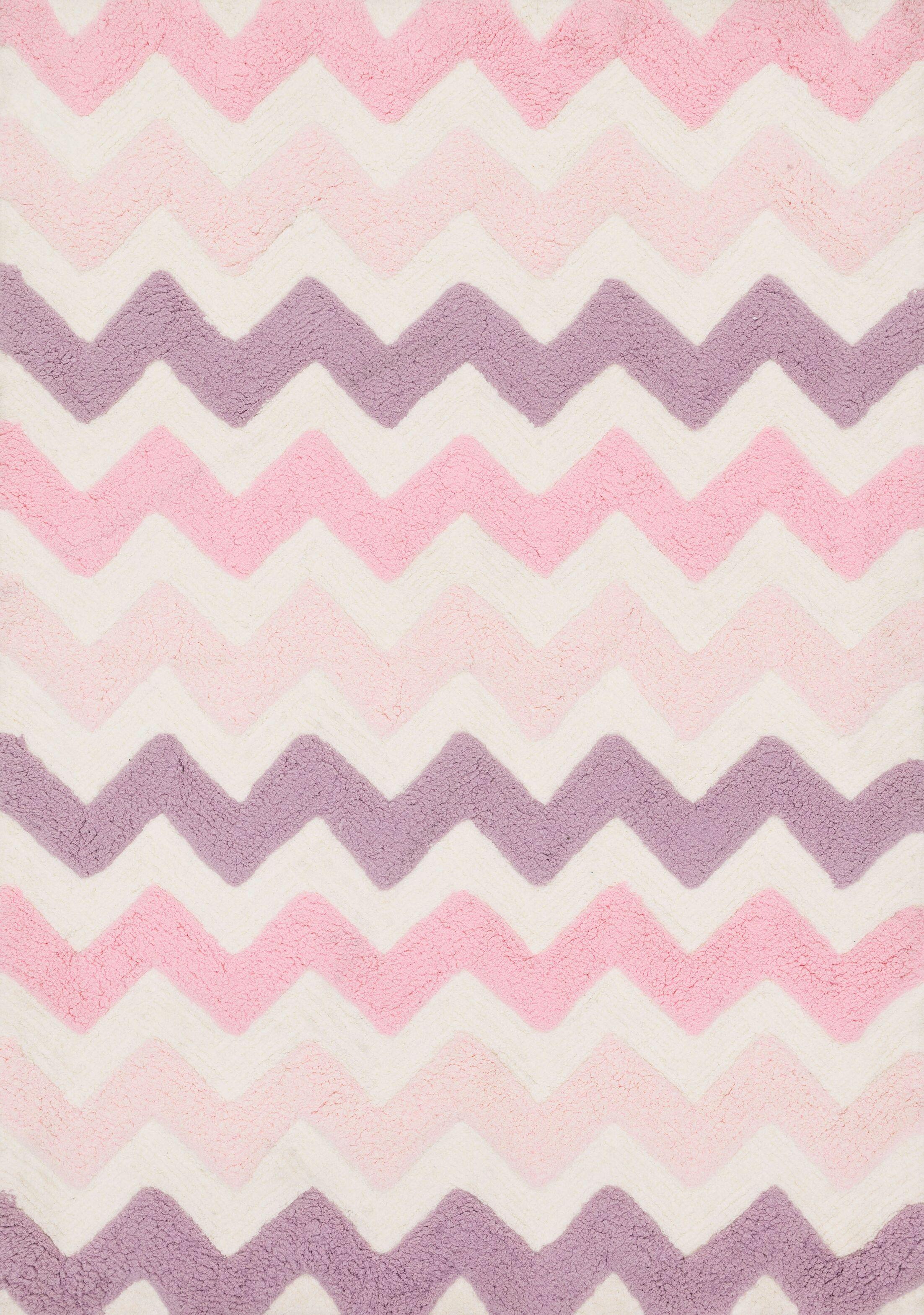 Broder Pink/Purple Shag Area Rug Rug Size: Rectangle 7'3