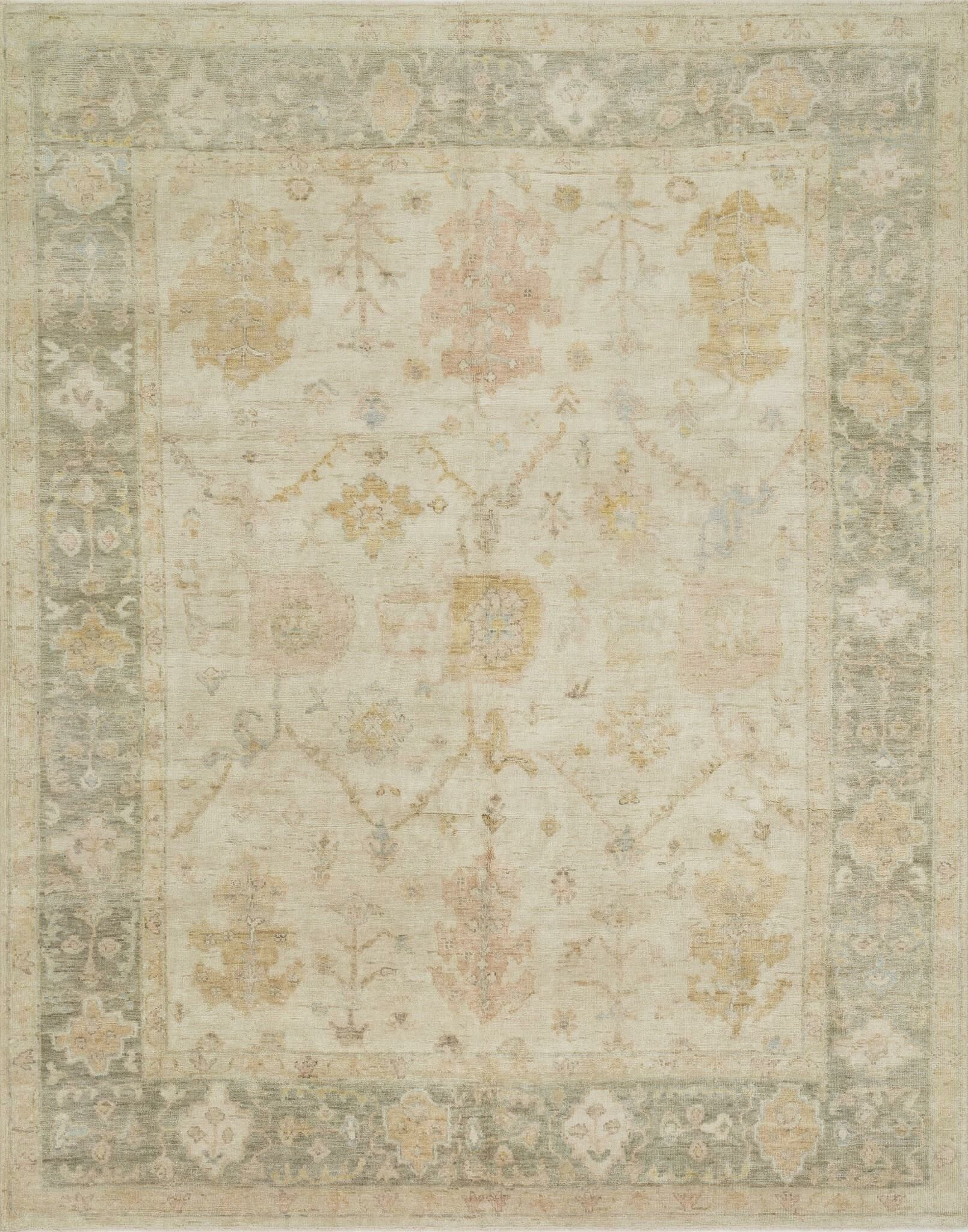Abelard Hand-Knotted Wool Stone/Storm Area Rug Rug Size: Rectangle 8'6