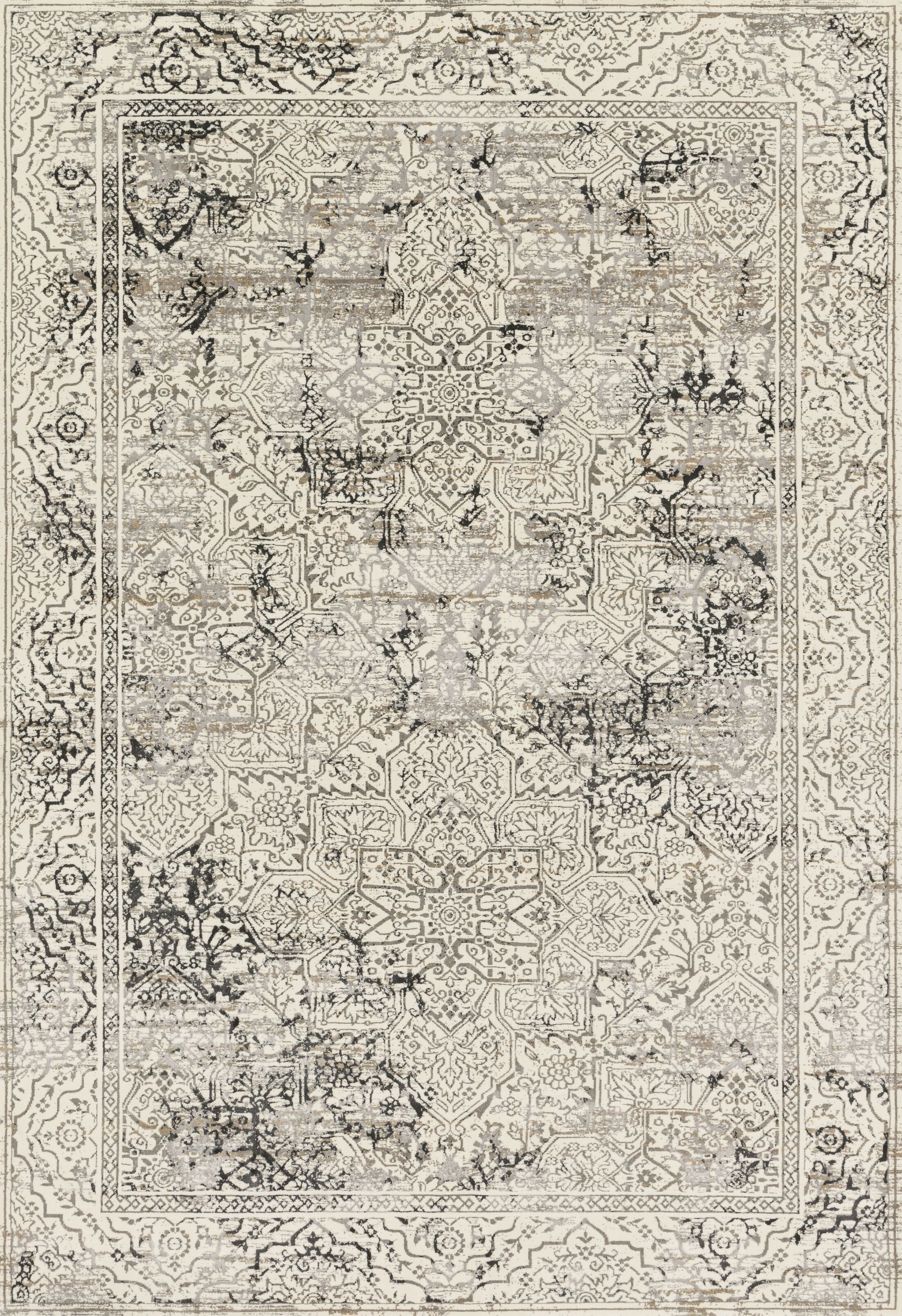 Abella Ivory Area Rug Rug Size: Rectangle 12' x 15'