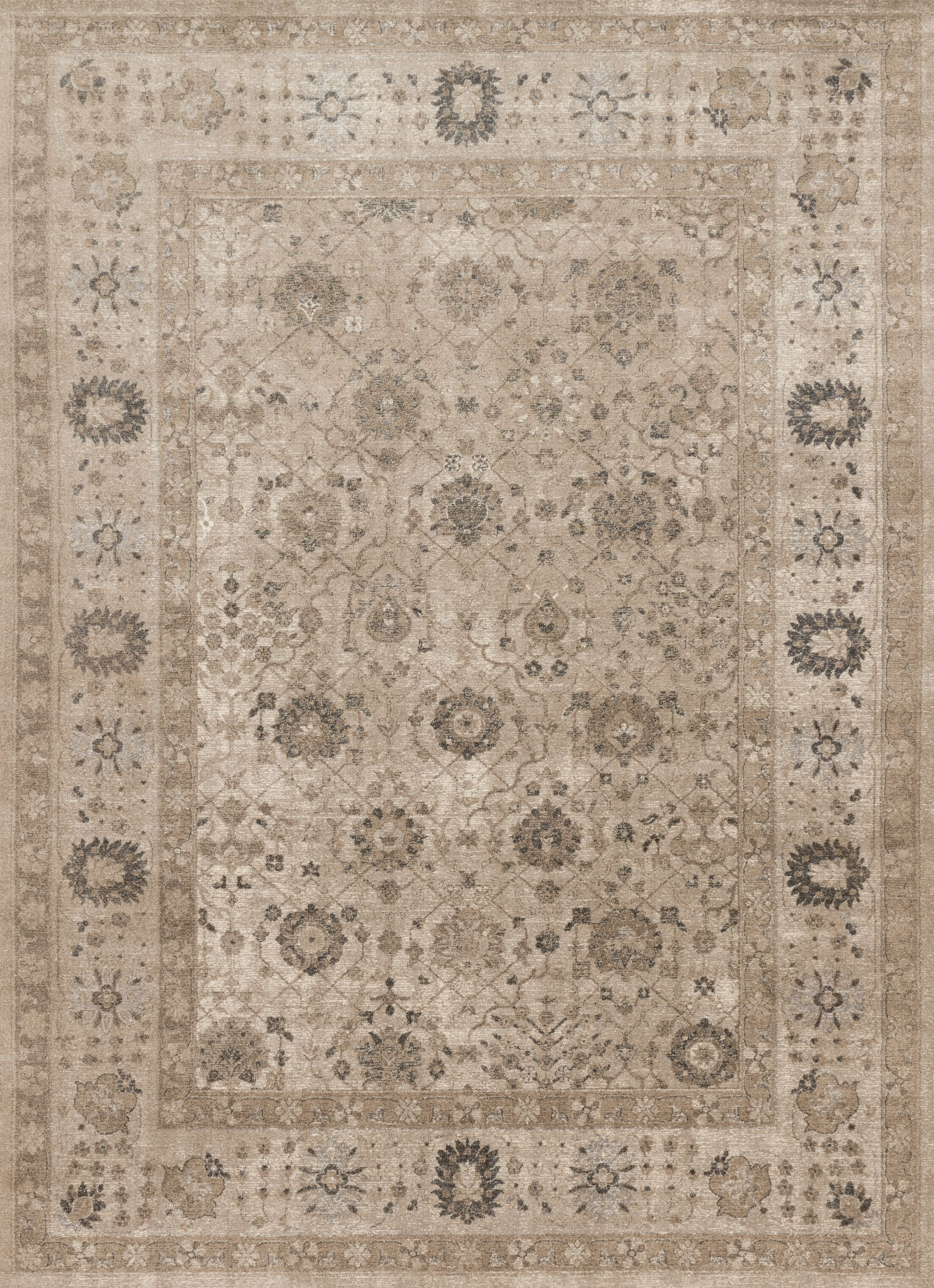 Adelbert Taupe Area Rug Rug Size: Rectangle 9'6