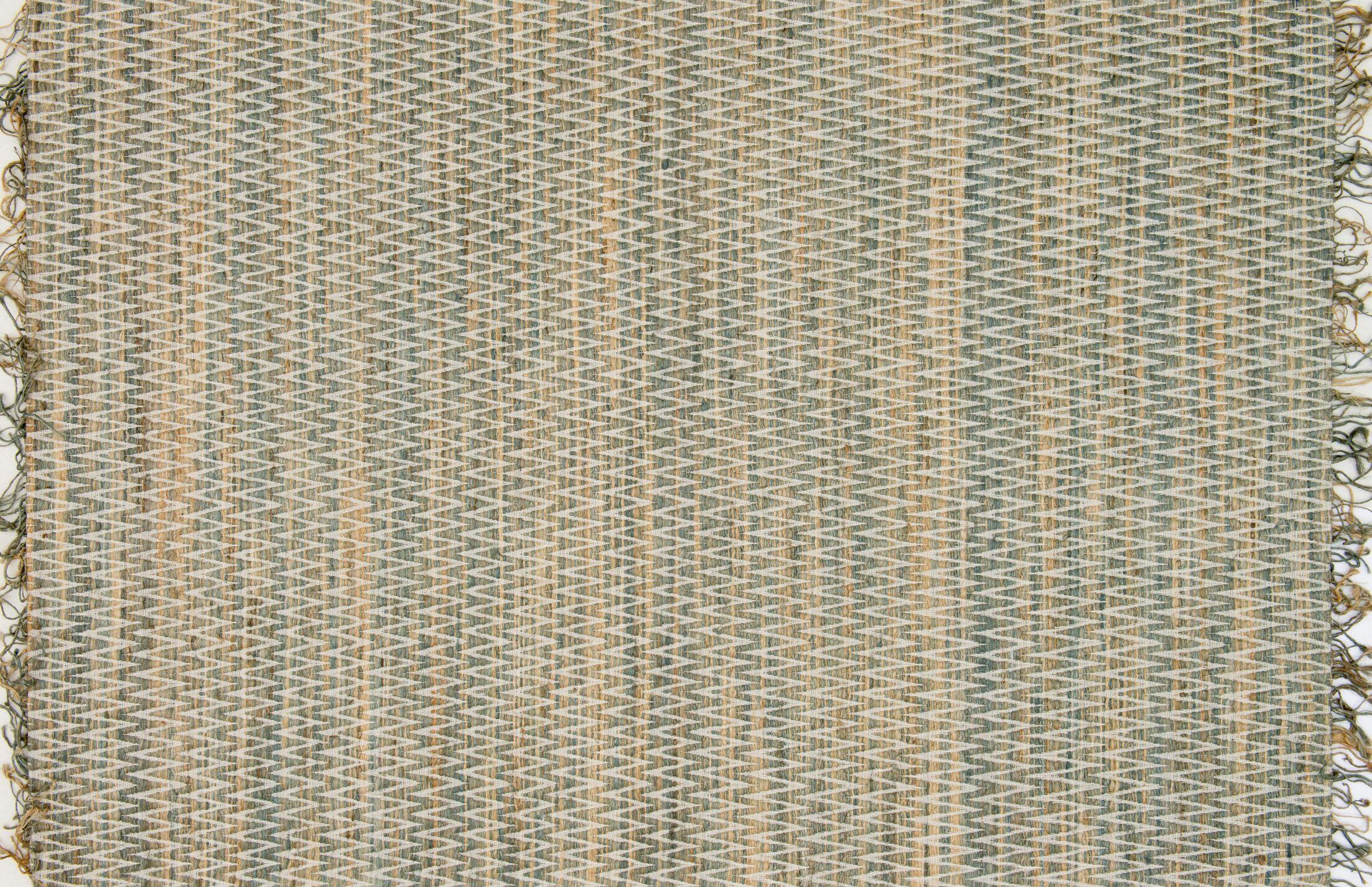 Faraci Hand-Woven Fog Area Rug Rug Size: Rectangle 9'3