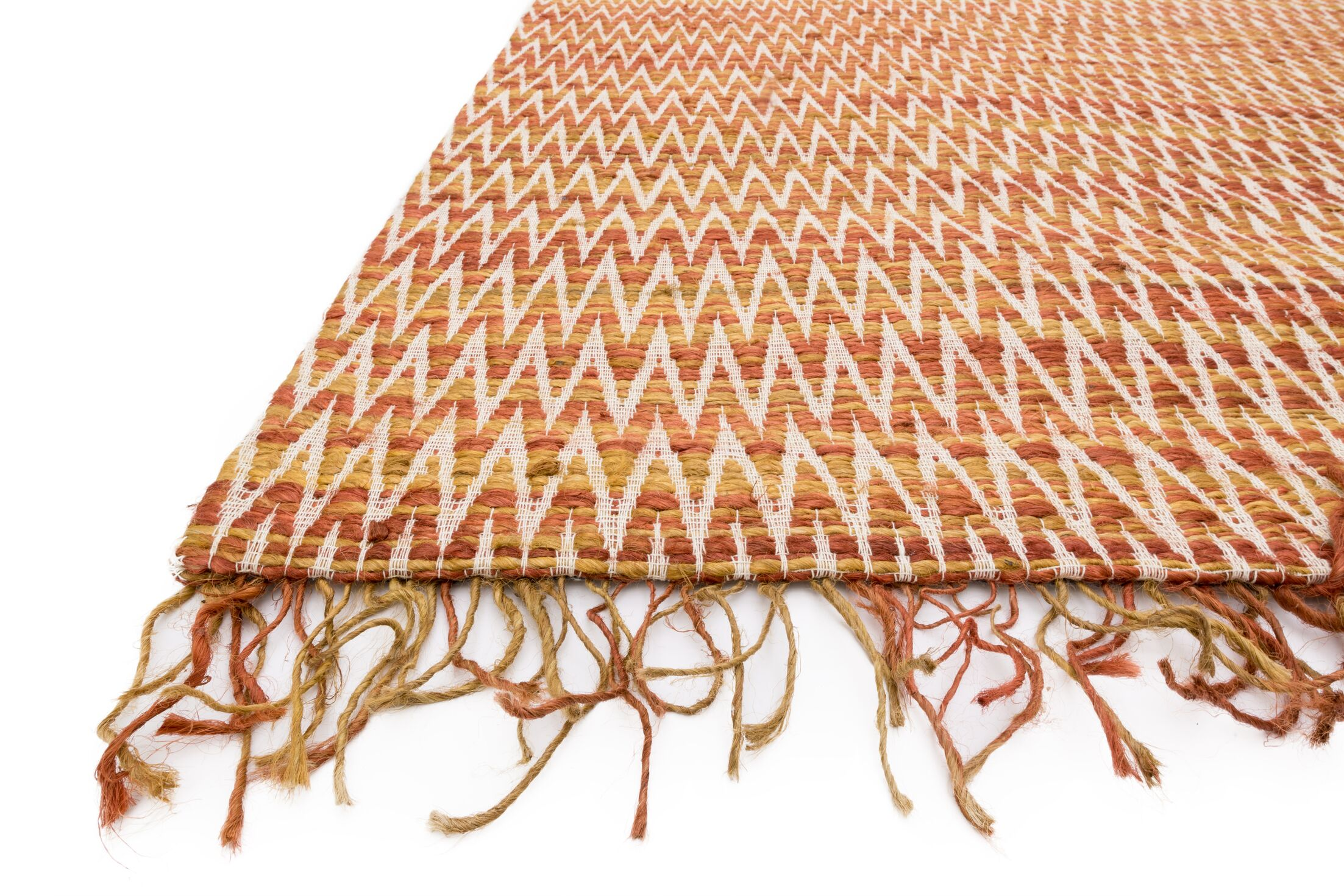 Faraci Hand-Woven Orange Area Rug Rug Size: Rectangle 7'9