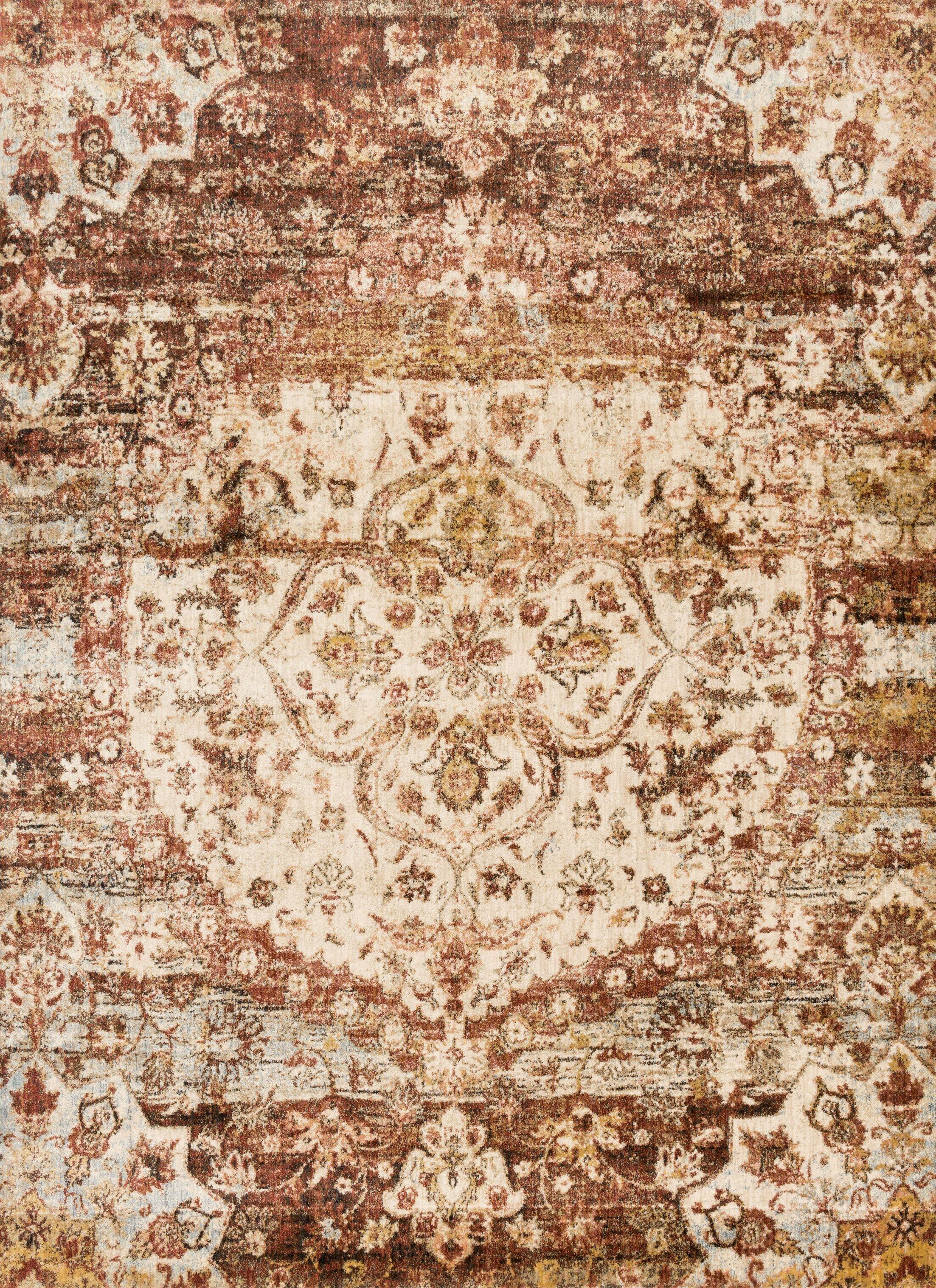 Zehner Rust/Ivory Area Rug Rug Size: Rectangle 13' x 18'