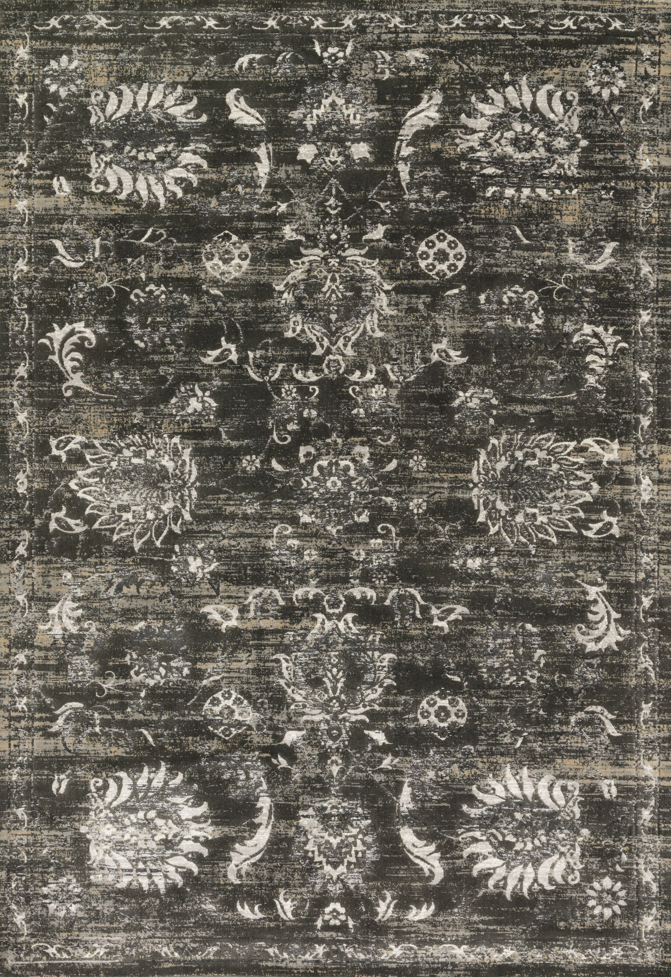 Abella Charcoal Area Rug Rug Size: Round 7'10
