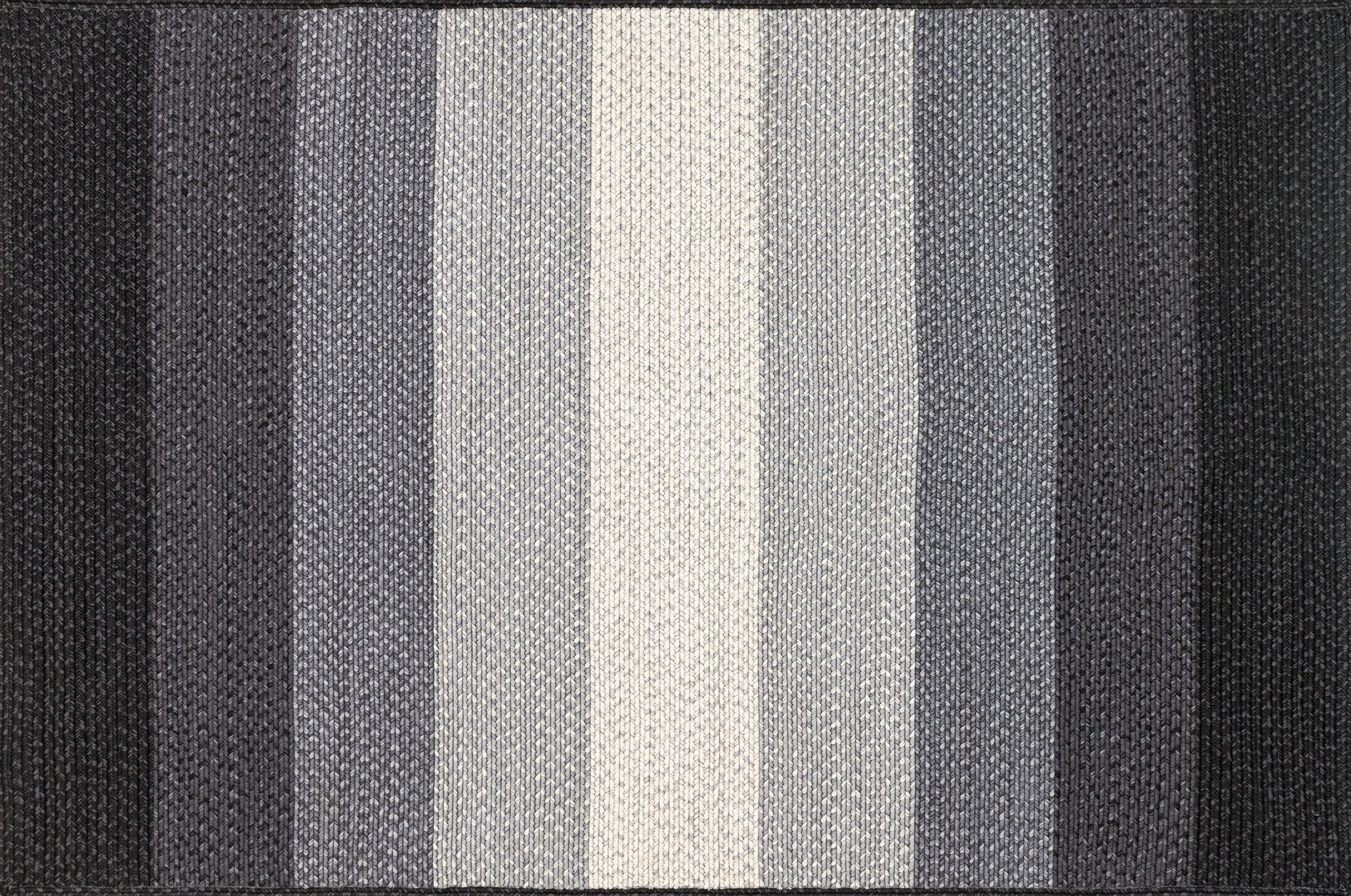 Barta Hand-Braided Black/Ivory Indoor/Outdoor Area Rug Rug Size: Rectangle 5' x 7'6