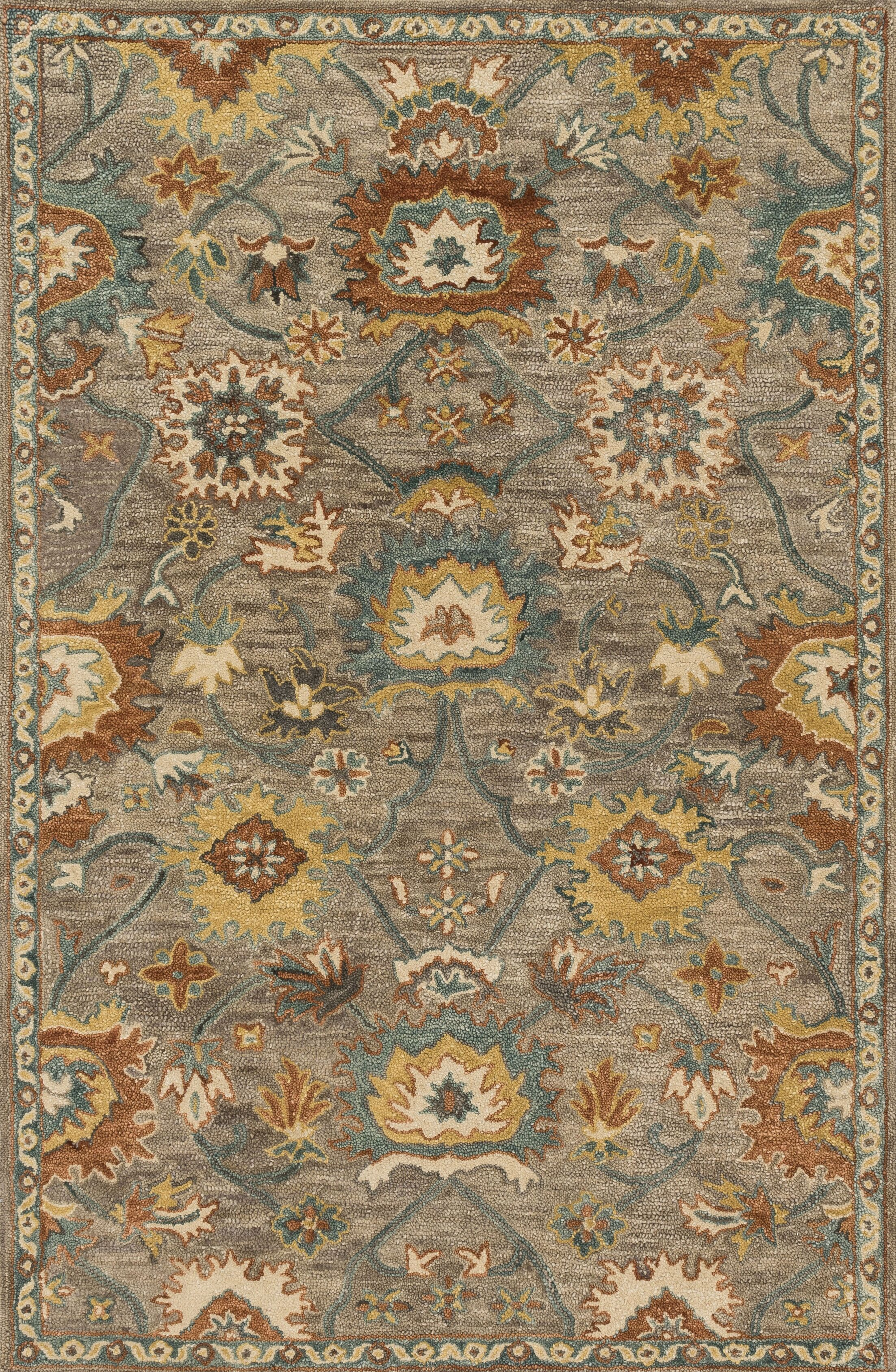 Durkee Gray Area Rug Rug Size: Rectangle 5' x 7'6