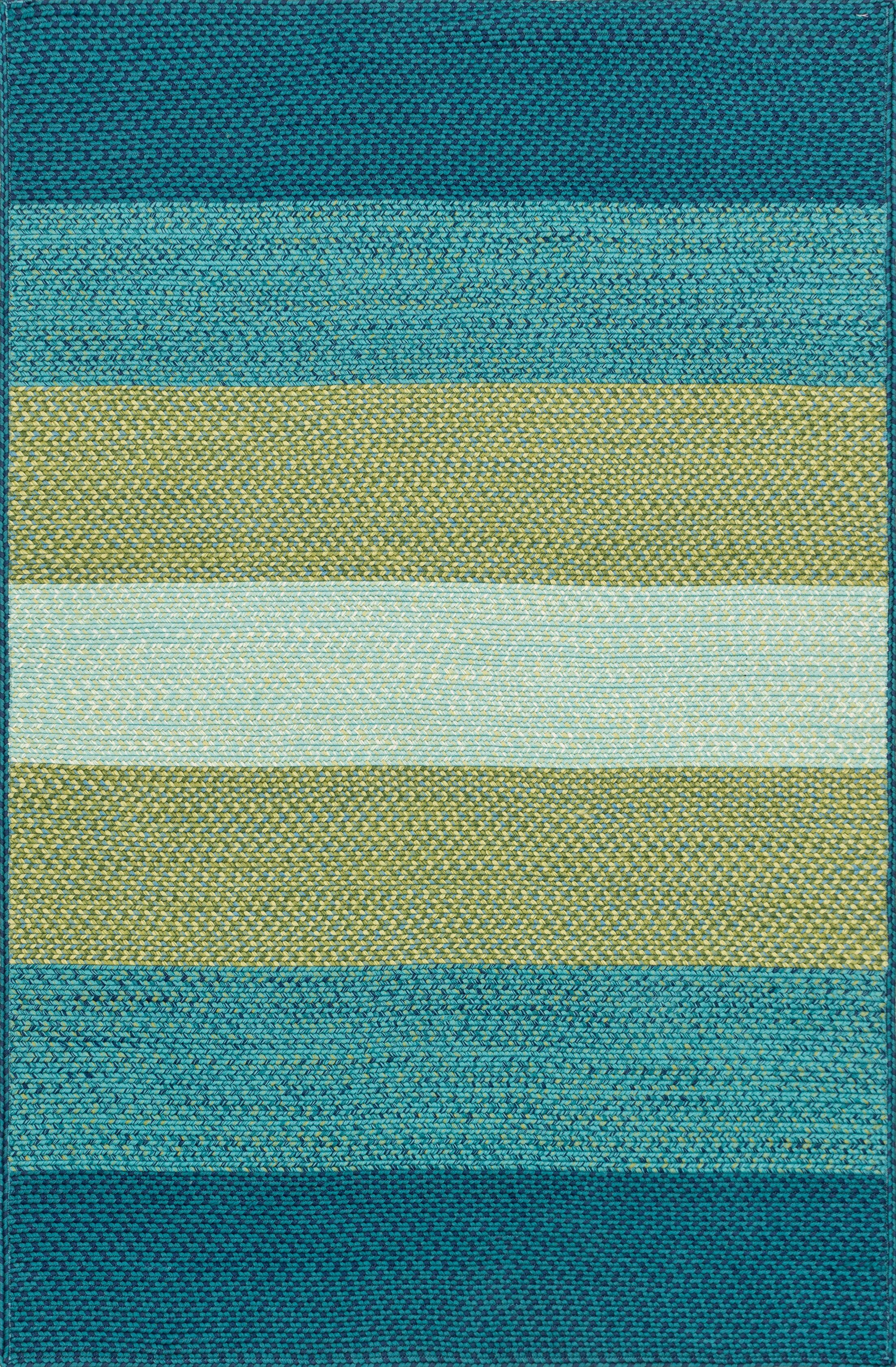Barta Hand-Braided Blue/Green Indoor/Outdoor Area Rug Rug Size: Rectangle 5' x 7'6