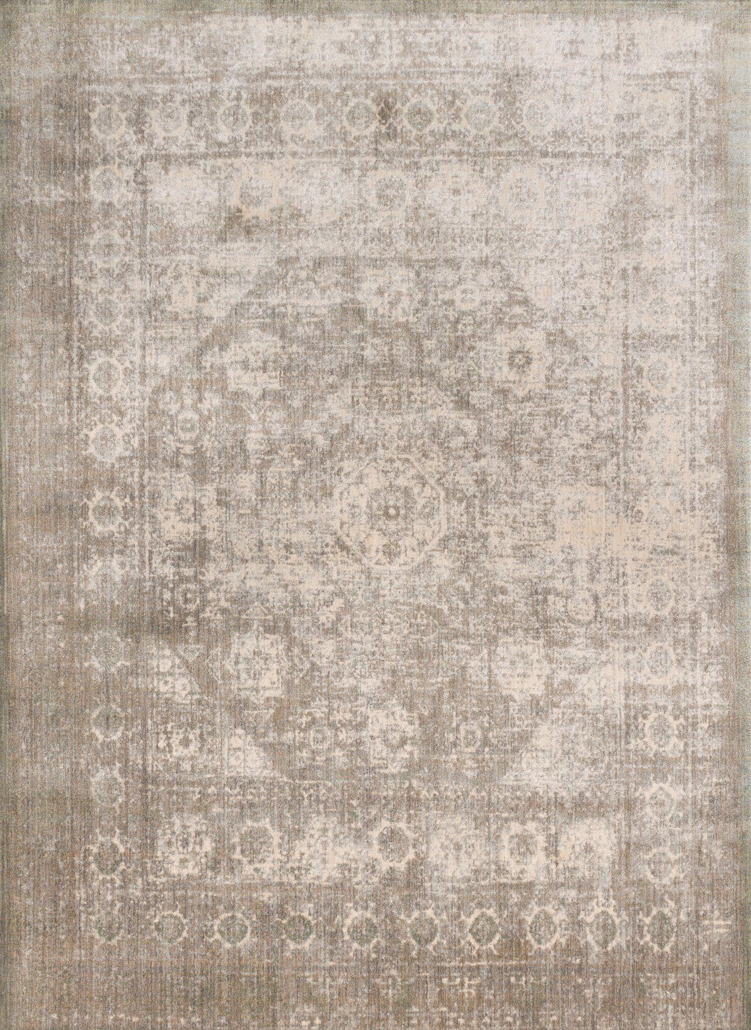 Zehner Gray/Sage Area Rug Rug Size: Rectangle 5'3