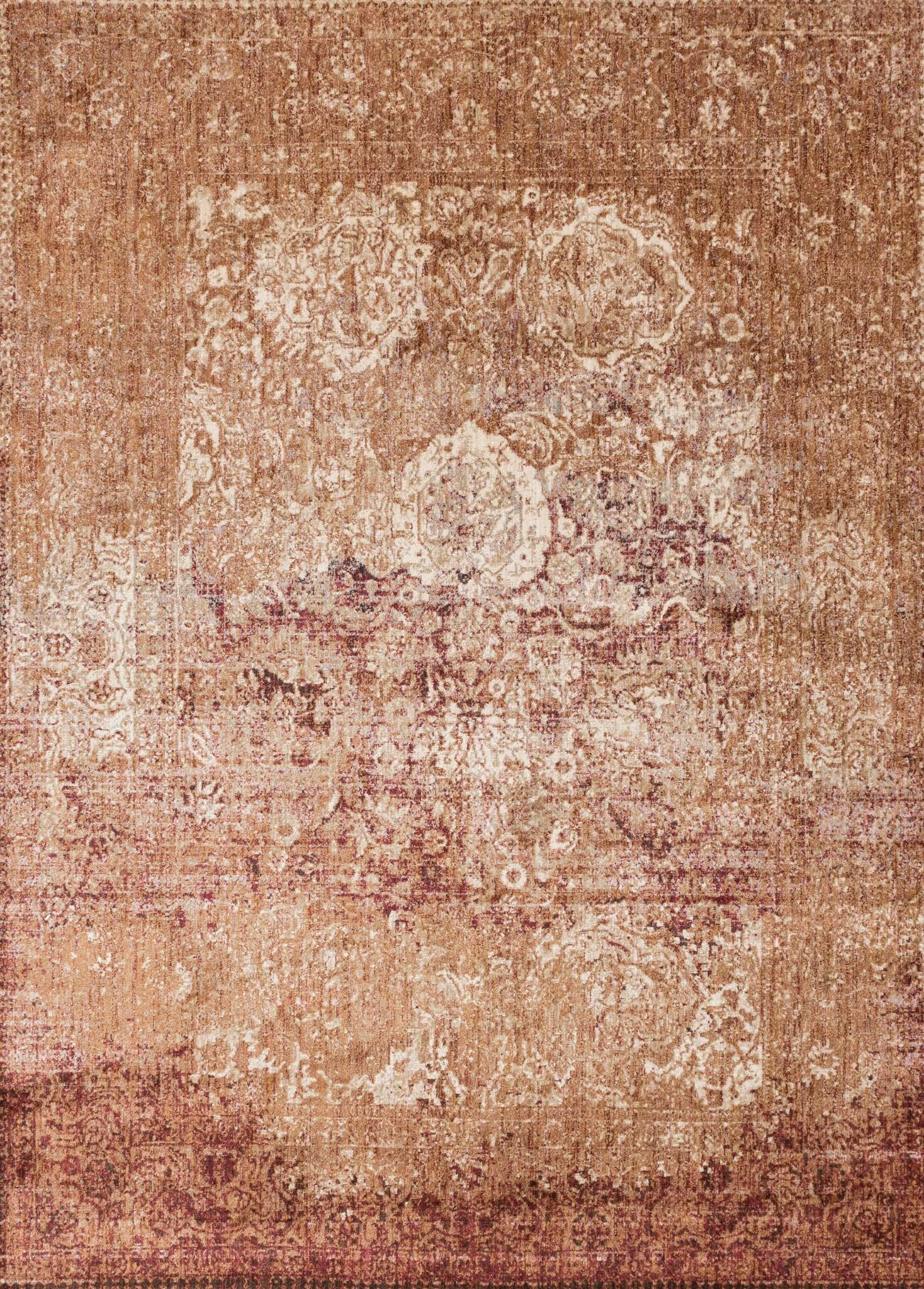Zehner Copper/Burgundy Area Rug Rug Size: Runner 2'7