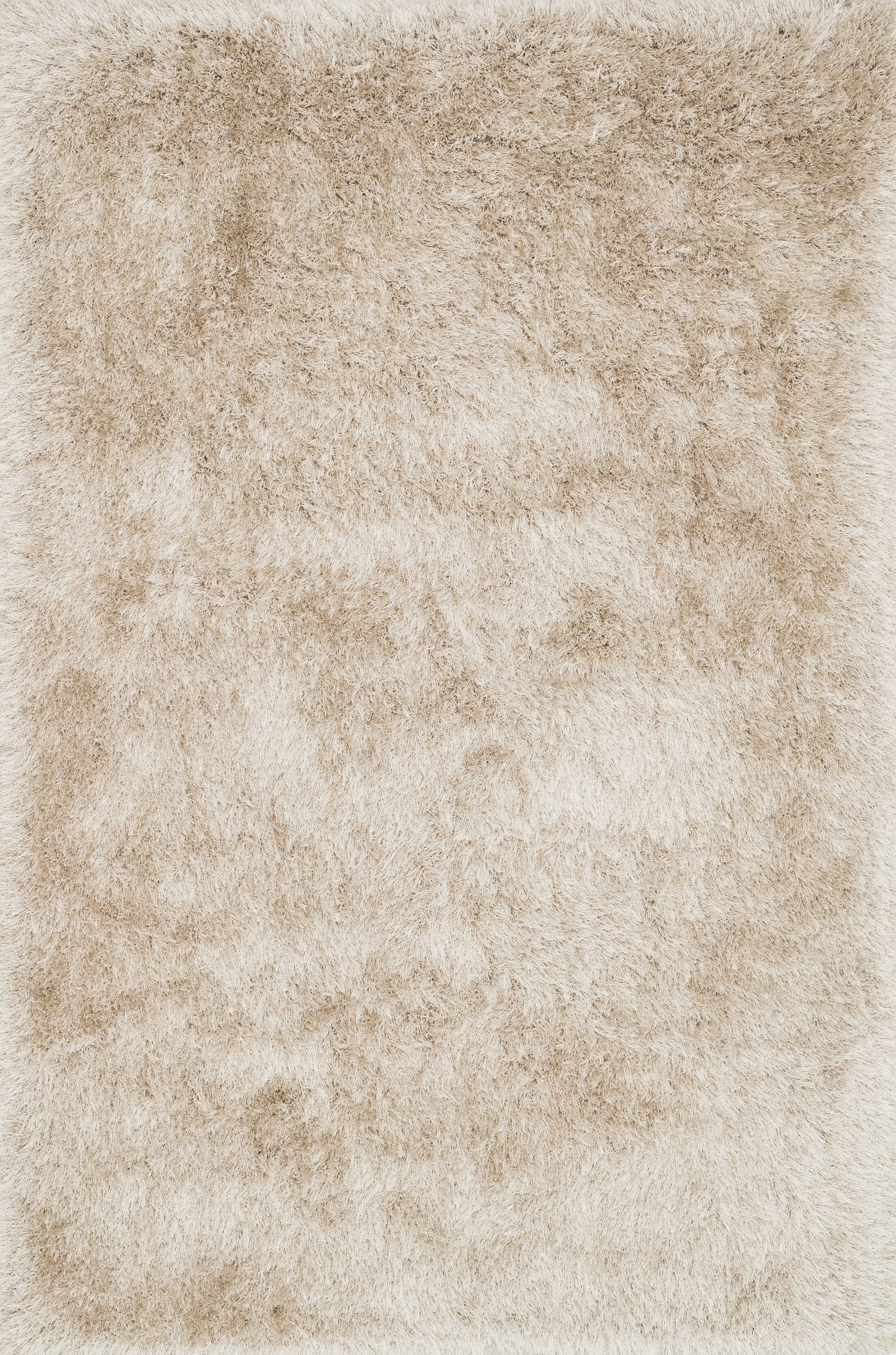 Siipola Shag Hand-Tufted Beige Area Rug Rug Size: Rectangle 5' x 7'6