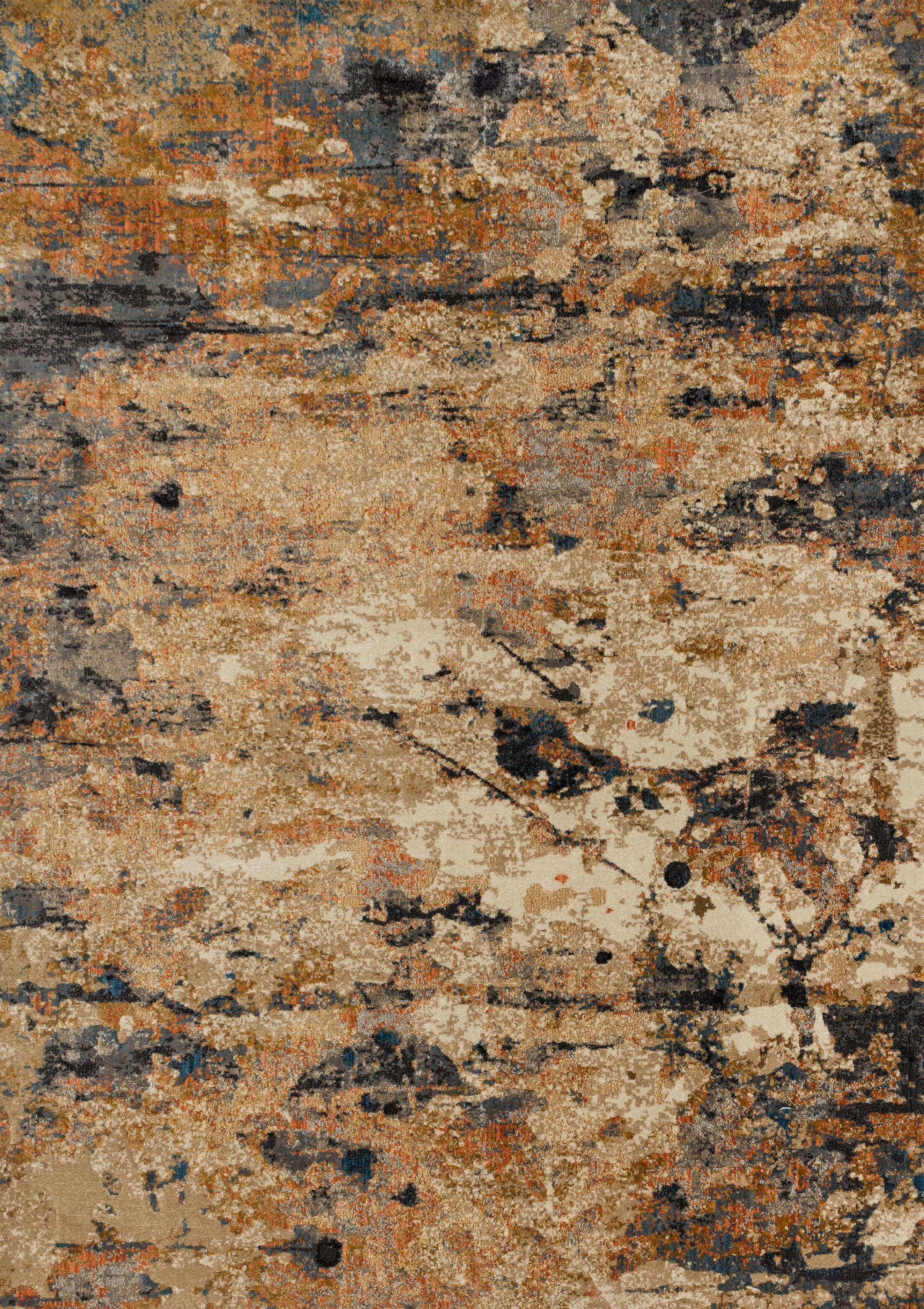 Dangelo Orange/Gray Area Rug Rug Size: Runner 2'3