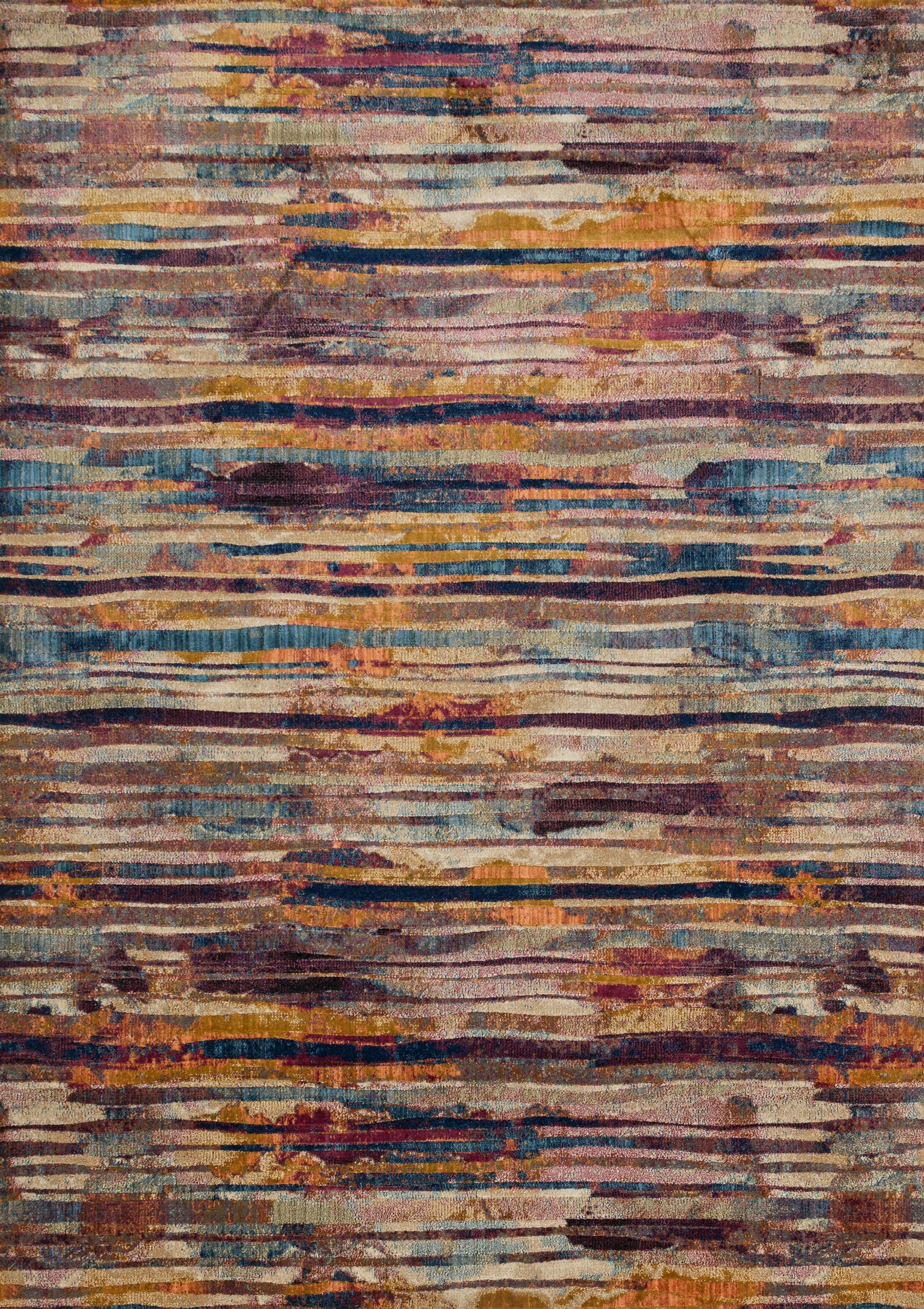 Dangelo Red/Brown Area Rug Rug Size: Rectangle 3'11