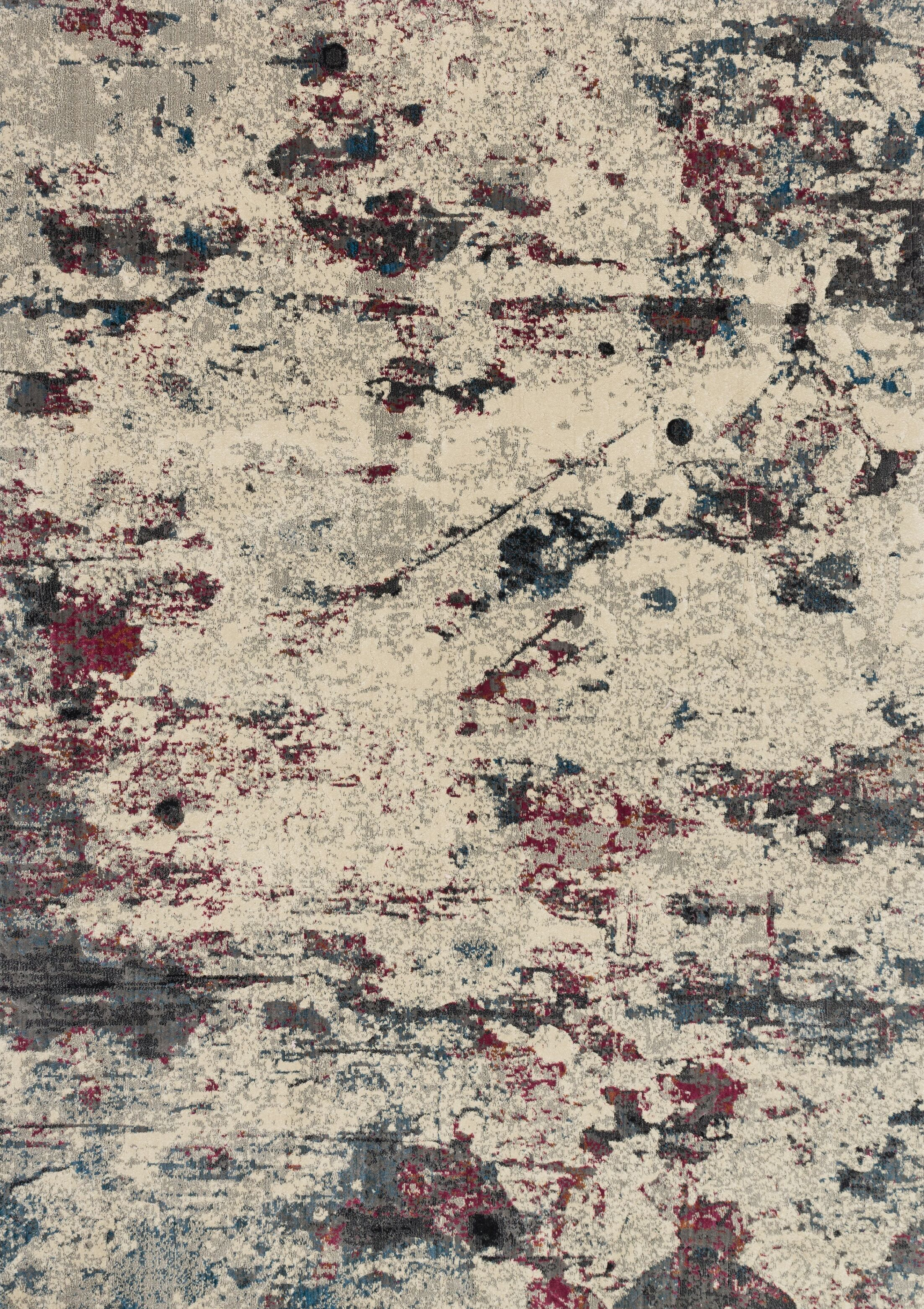 Dangelo Beige/Red Area Rug Rug Size: Rectangle 3'11