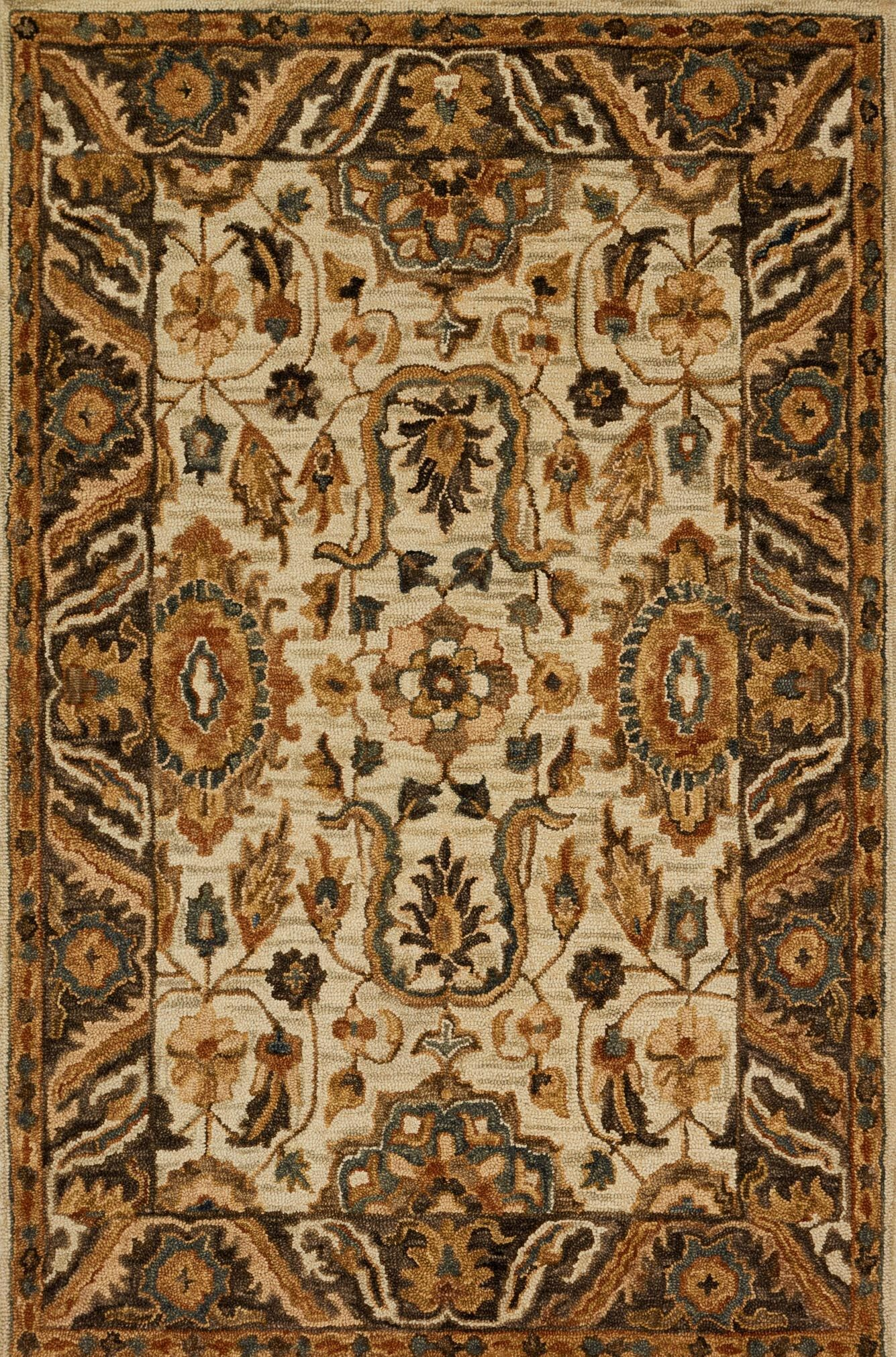 Watertown Beige/Brown Area Rug Rug Size: Rectangle 9'3