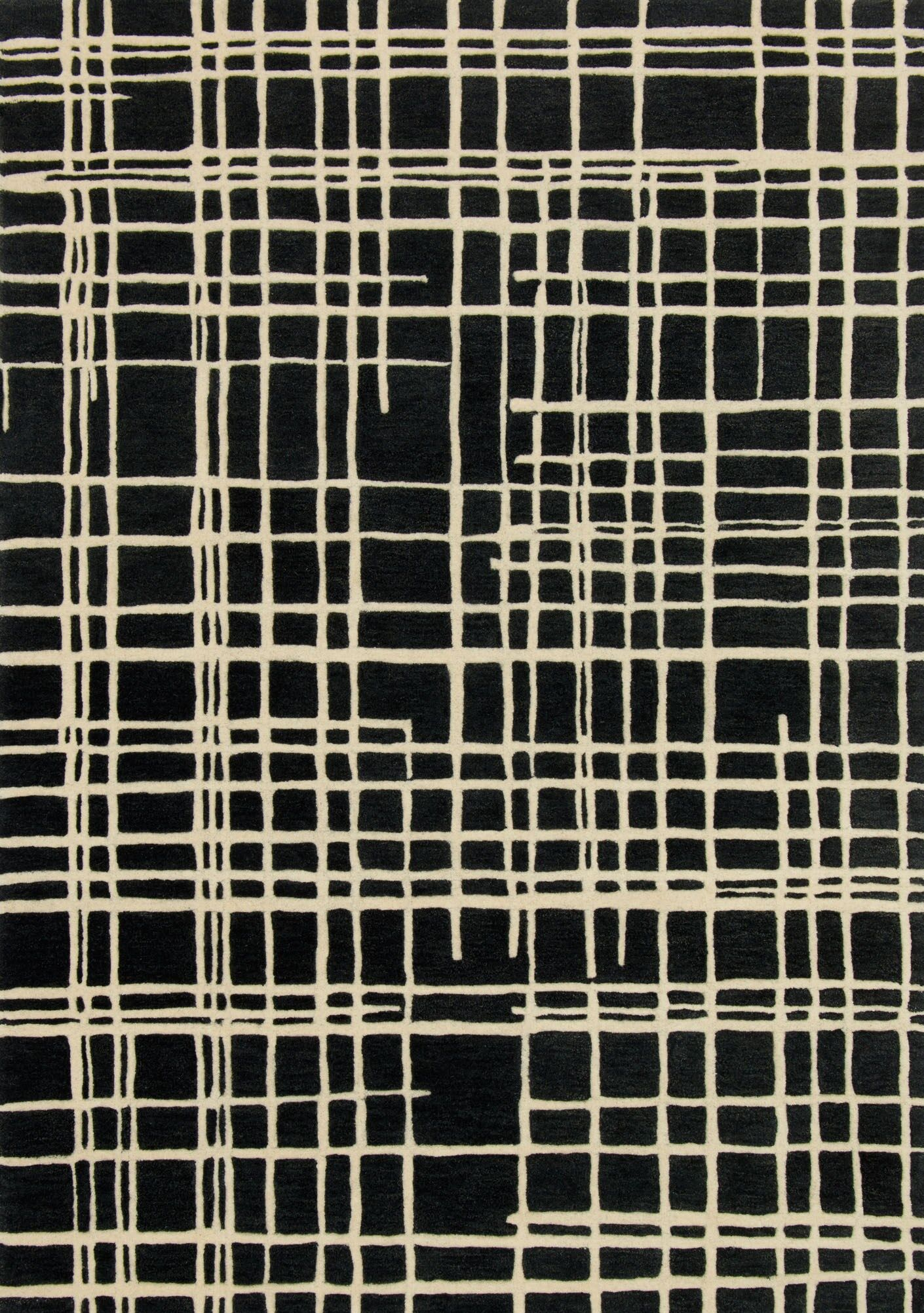 Mazon Hand-Tufted Black/Beige Area Rug Rug Size: Rectangle 3'6