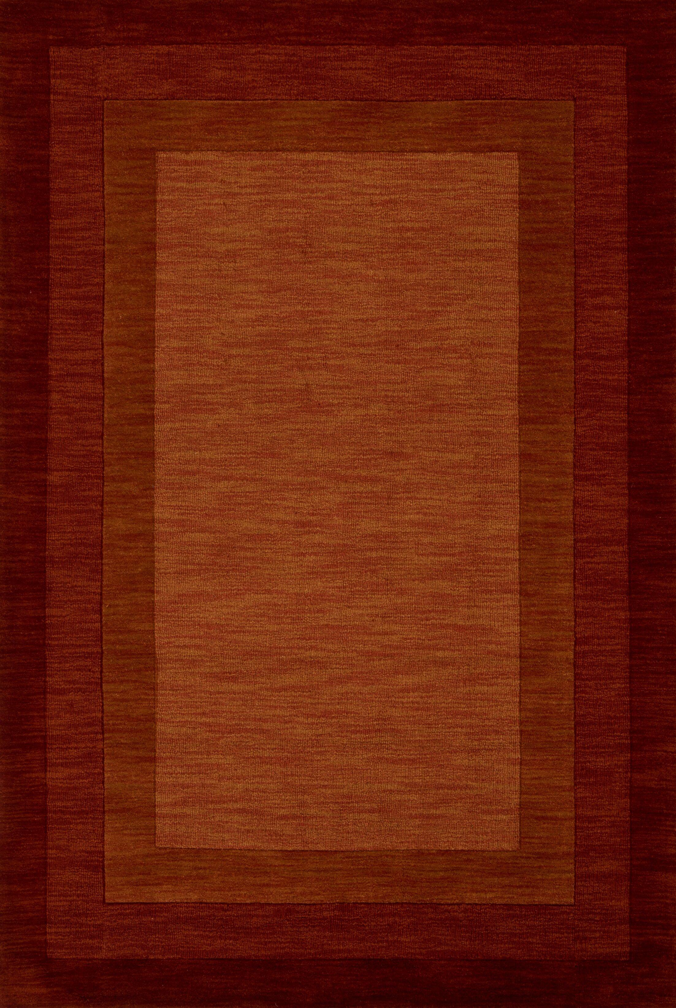 Keifer Hand-Tufted Red Area Rug Rug Size: Rectangle 3'6