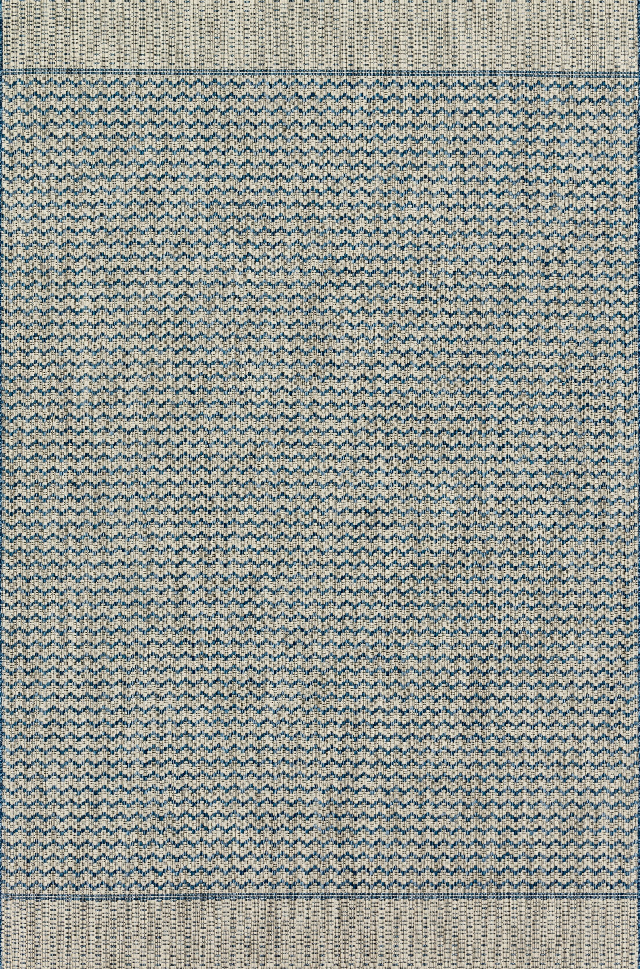 Bundy Gray/Blue Indoor/Outdoor Area Rug Rug Size: Rectangle 7'10