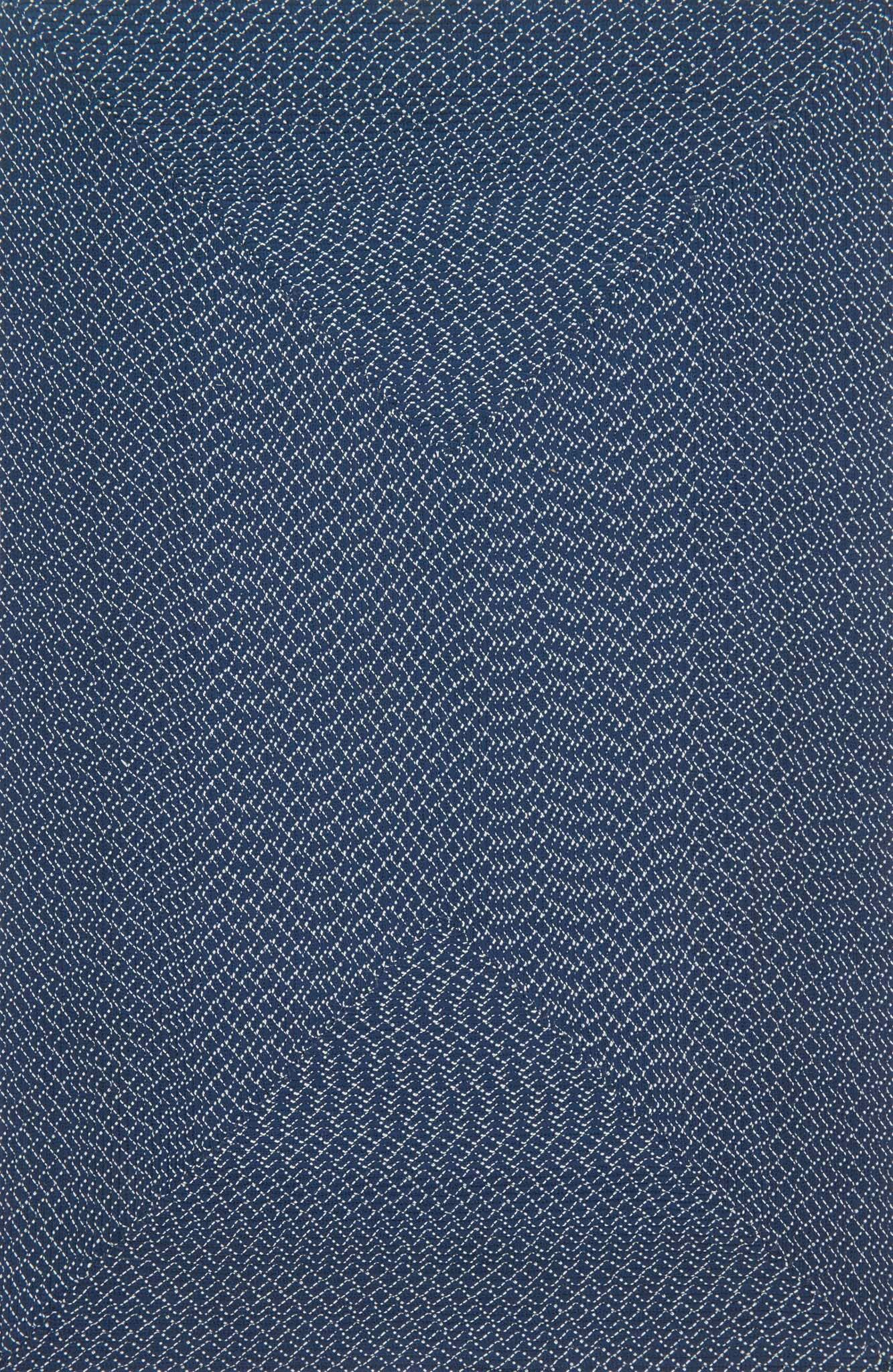 Daniell Hand-Woven Navy Indoor/Outdoor Area Rug Rug Size: Rectangle 5' x 7'