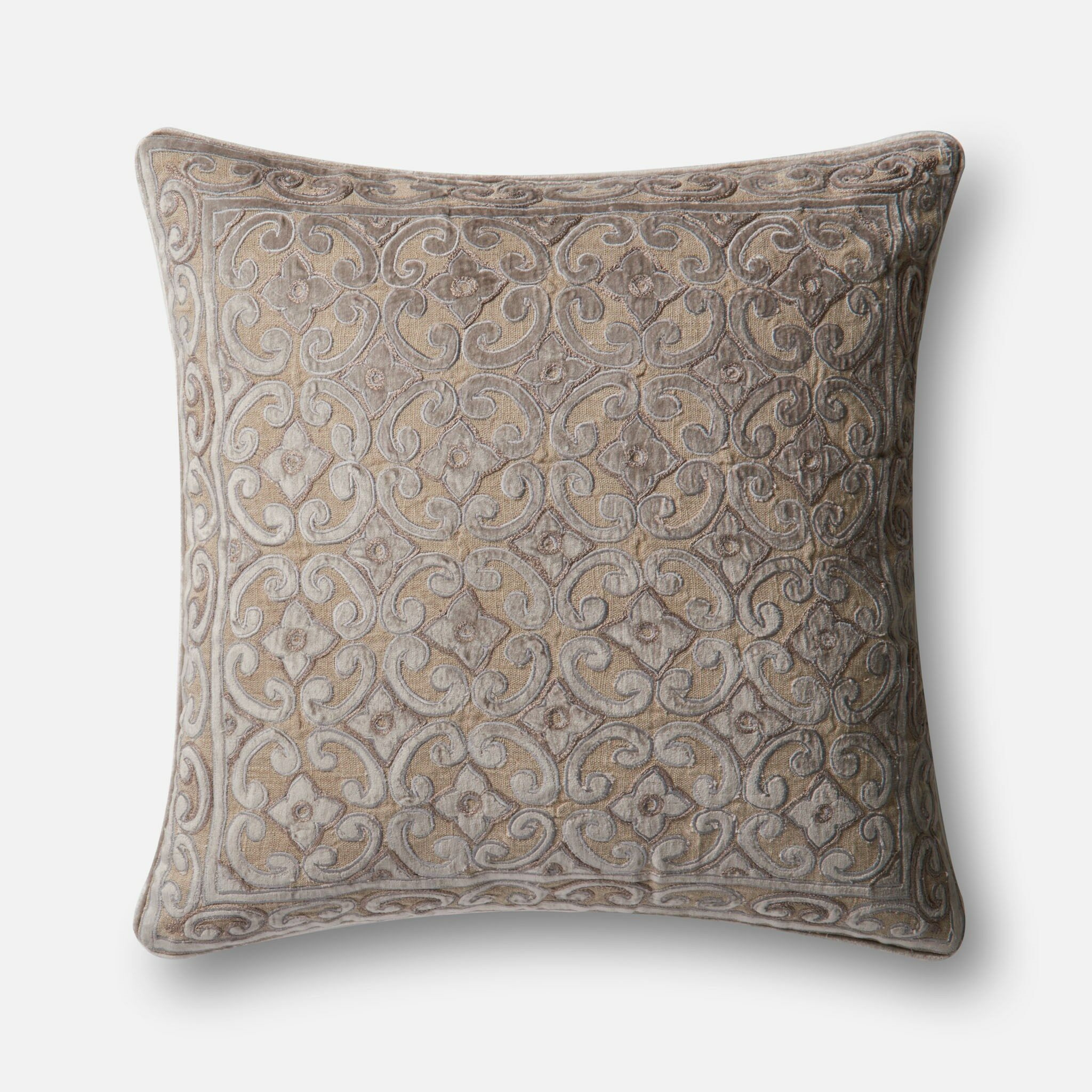 Maximus Linen/Cotton Pillow Cover Color: Tan