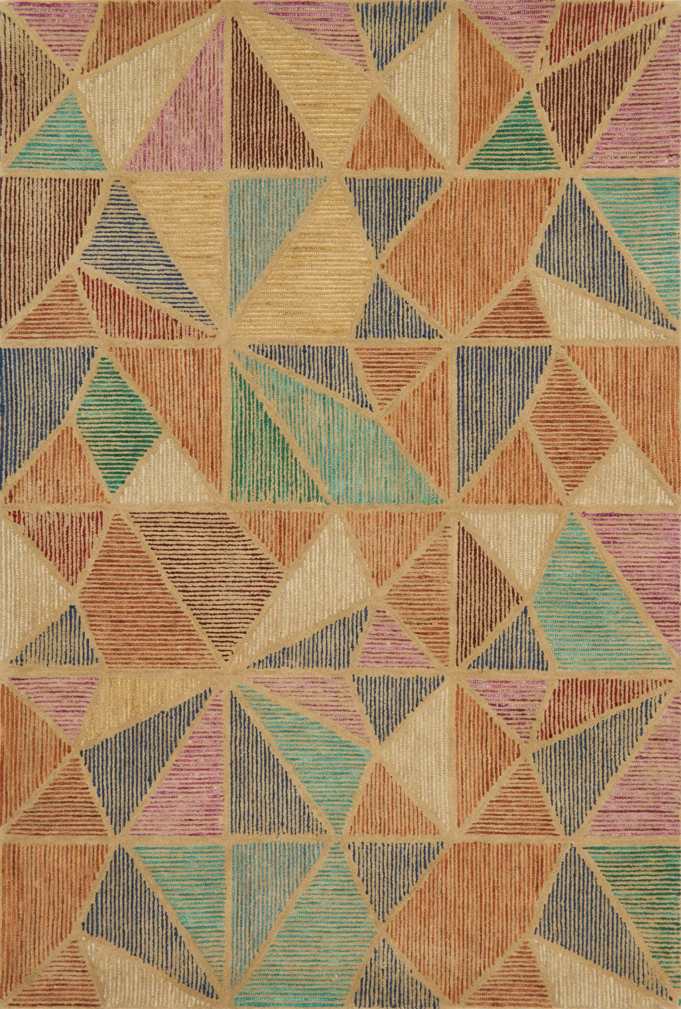 Wingman Hand-Tufted Brown/Green Area Rug Rug Size: Rectangle 3'6