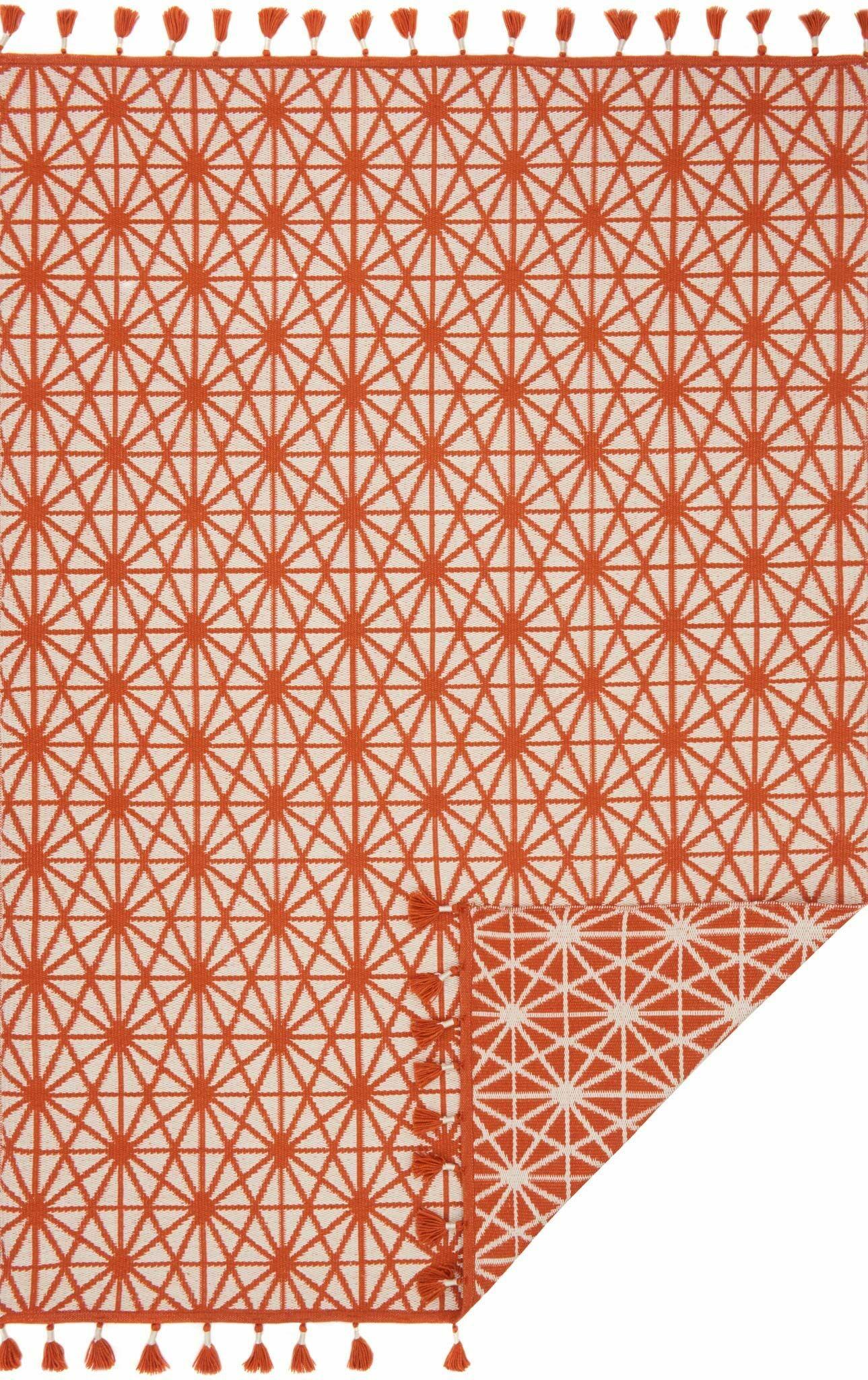 Pangburn Hand-Woven Orange Area Rug Rug Size: Rectangle 7'9