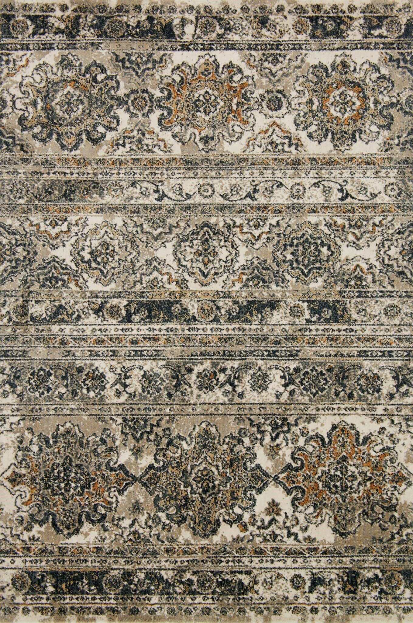 Taupe Area Rug Rug Size: Rectangle 3'9
