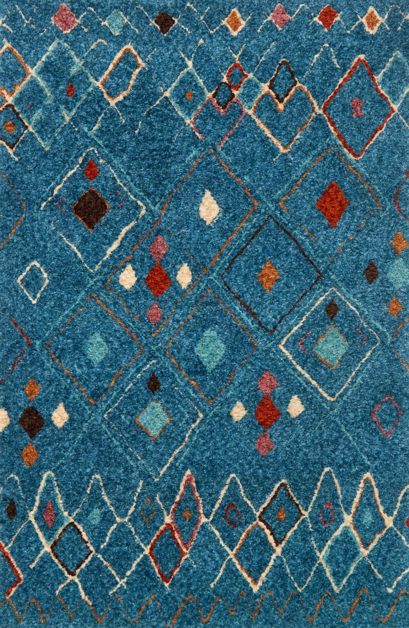 Zambrano Blue Area Rug Rug Size: Rectangle 9'3
