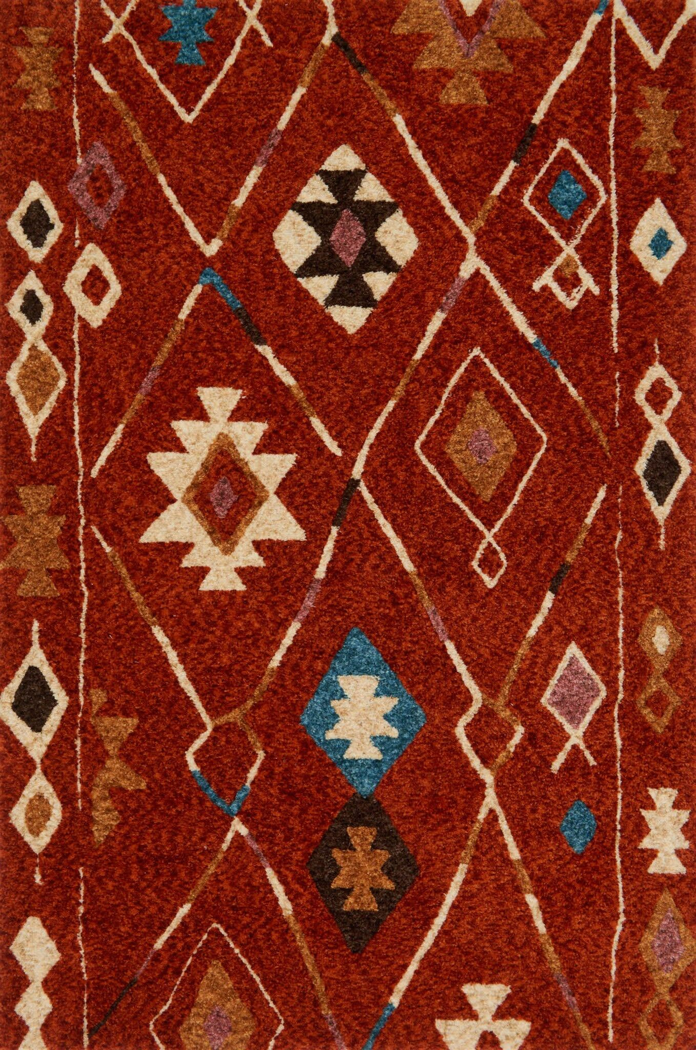 Zambrano Red Area Rug Rug Size: Rectangle 3'6