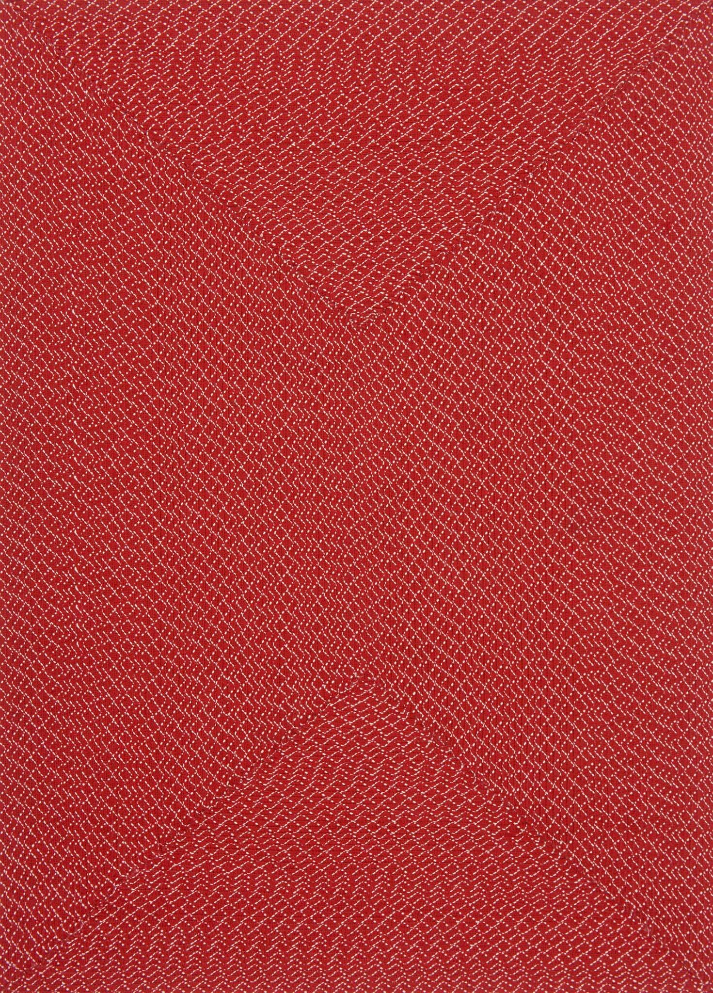 Daniell Hand-Woven Red Indoor/Outdoor Area Rug Rug Size: Rectangle 7'9