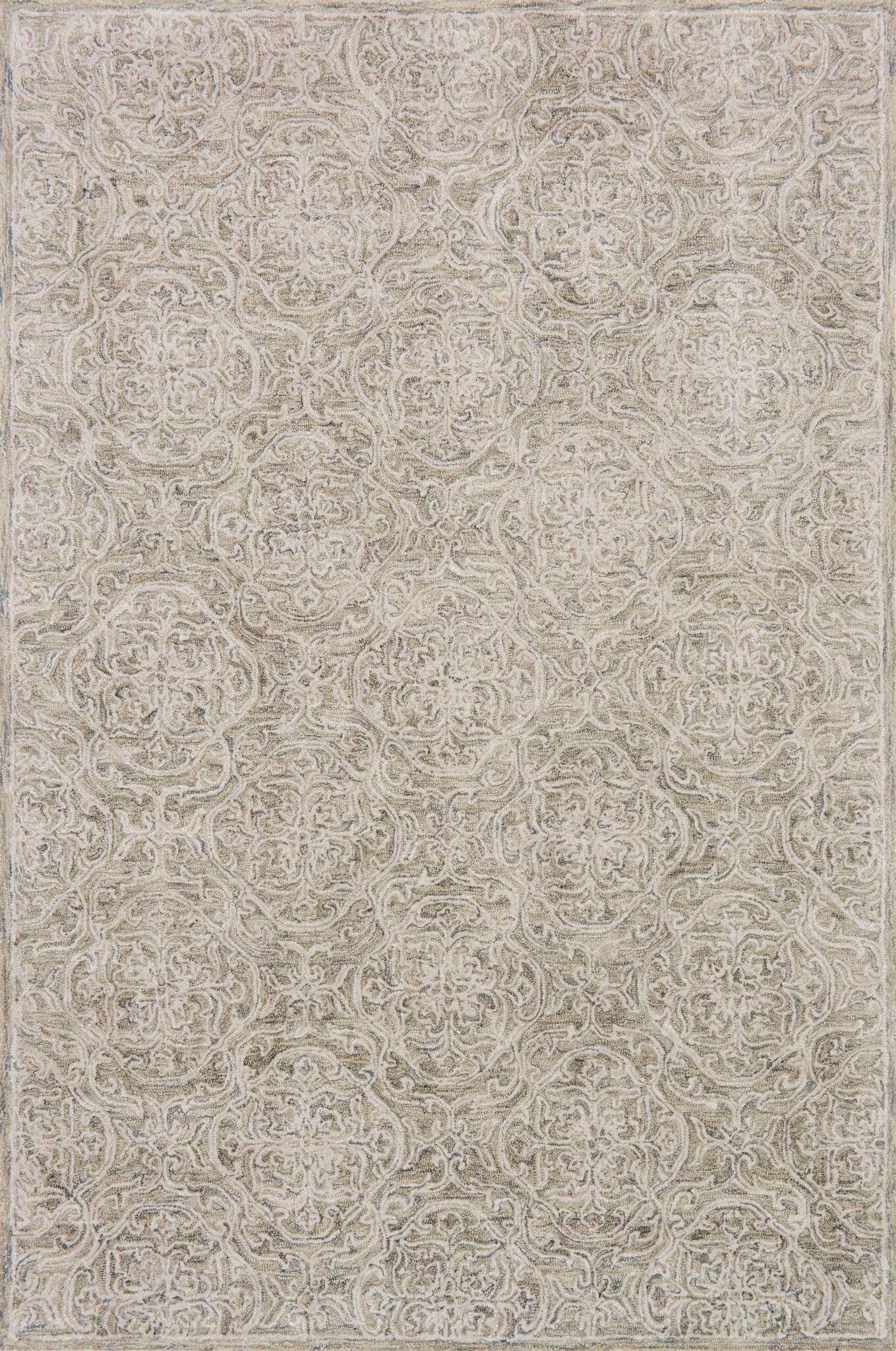 Firger Hand-Tufted Beige Area Rug Rug Size: Rectangle 5' x 7'6