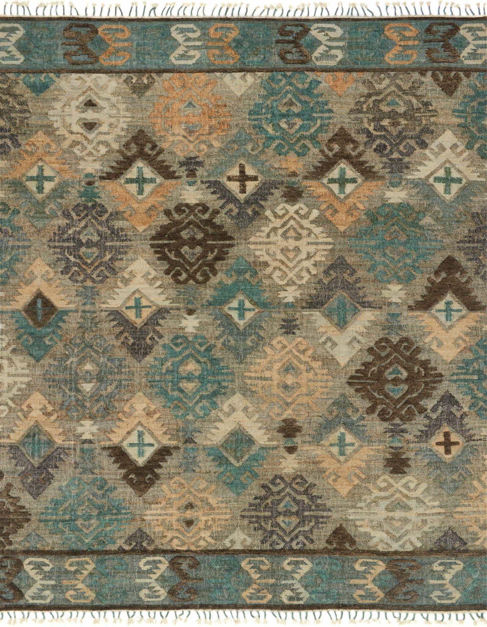 Bentonville Hand-Woven Gray/Blue Area Rug Rug Size: Runner 2'6