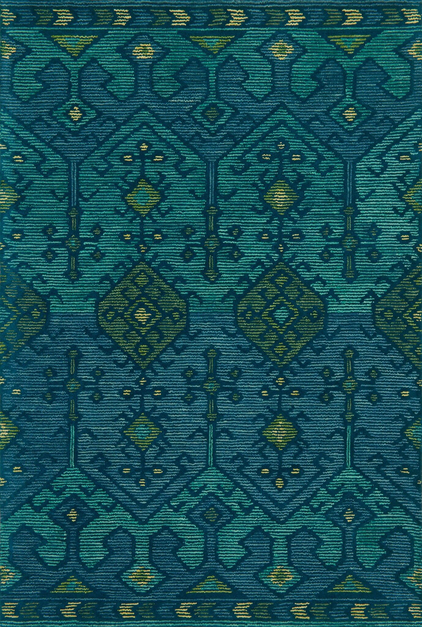 Wingman Hand-Tufted Green Area Rug Rug Size: Rectangle 5' x 7'6