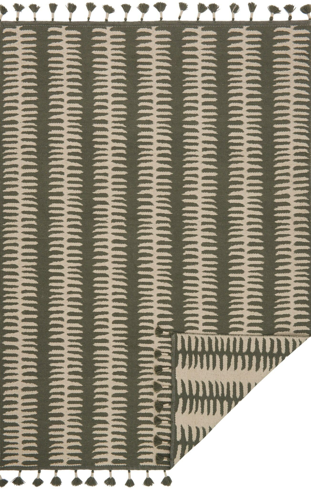 Pangburn Hand-Woven Gray/Silver Area Rug Rug Size: Rectangle 7'9