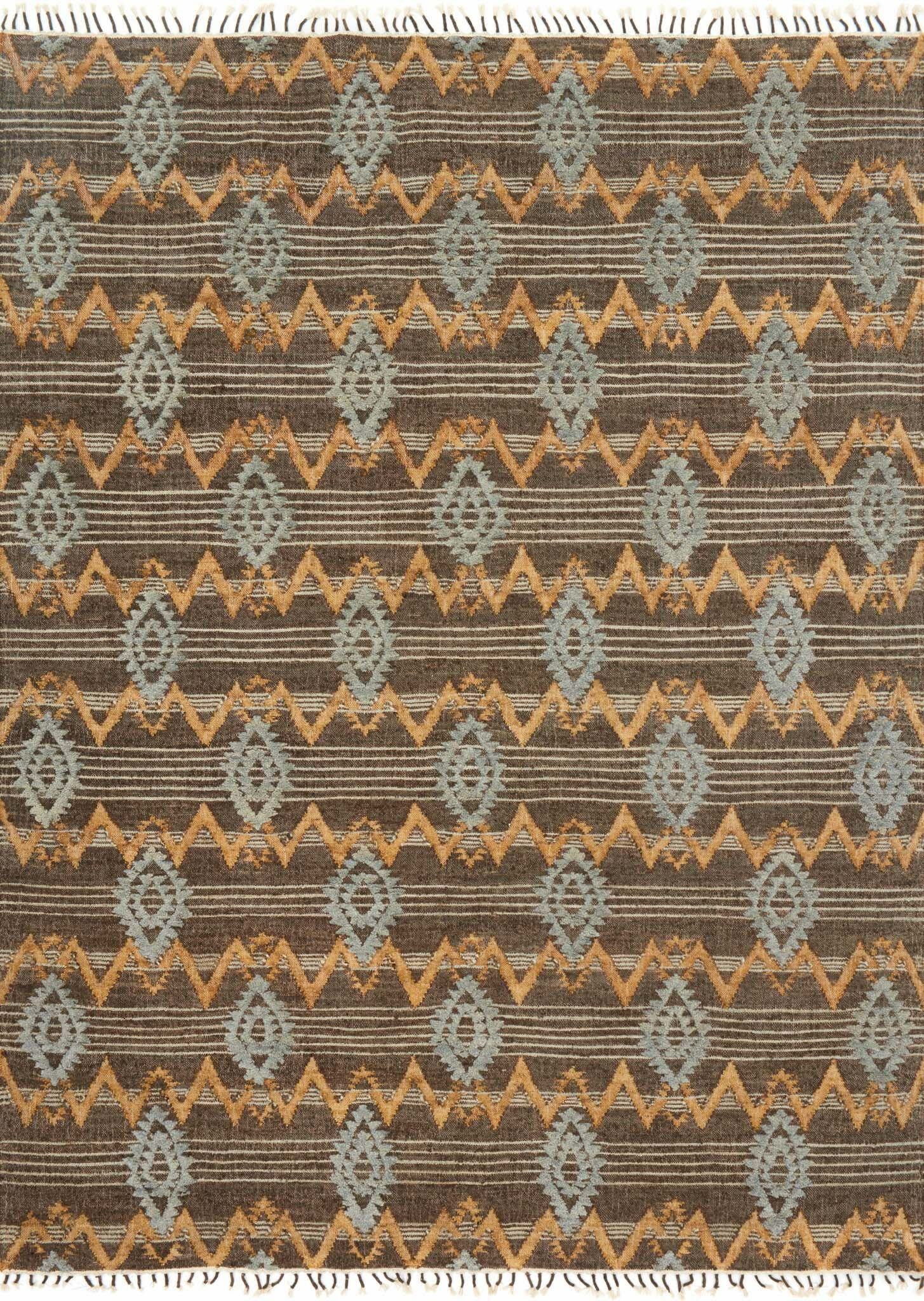 Bentonville Hand-Woven Brown/Gray Area Rug Rug Size: Rectangle 9'3