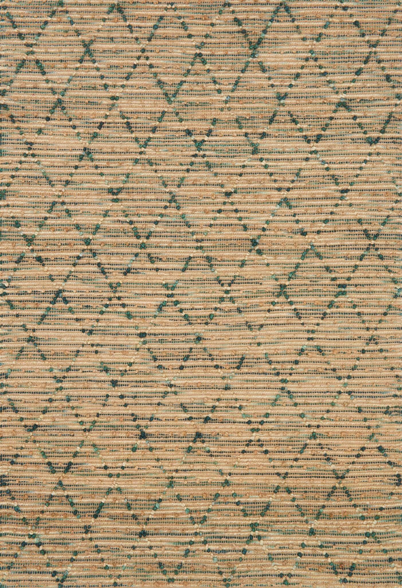 Pangkal Pinang Hand-Woven Brown/Aqua Area Rug Rug Size: Rectangle 7'9