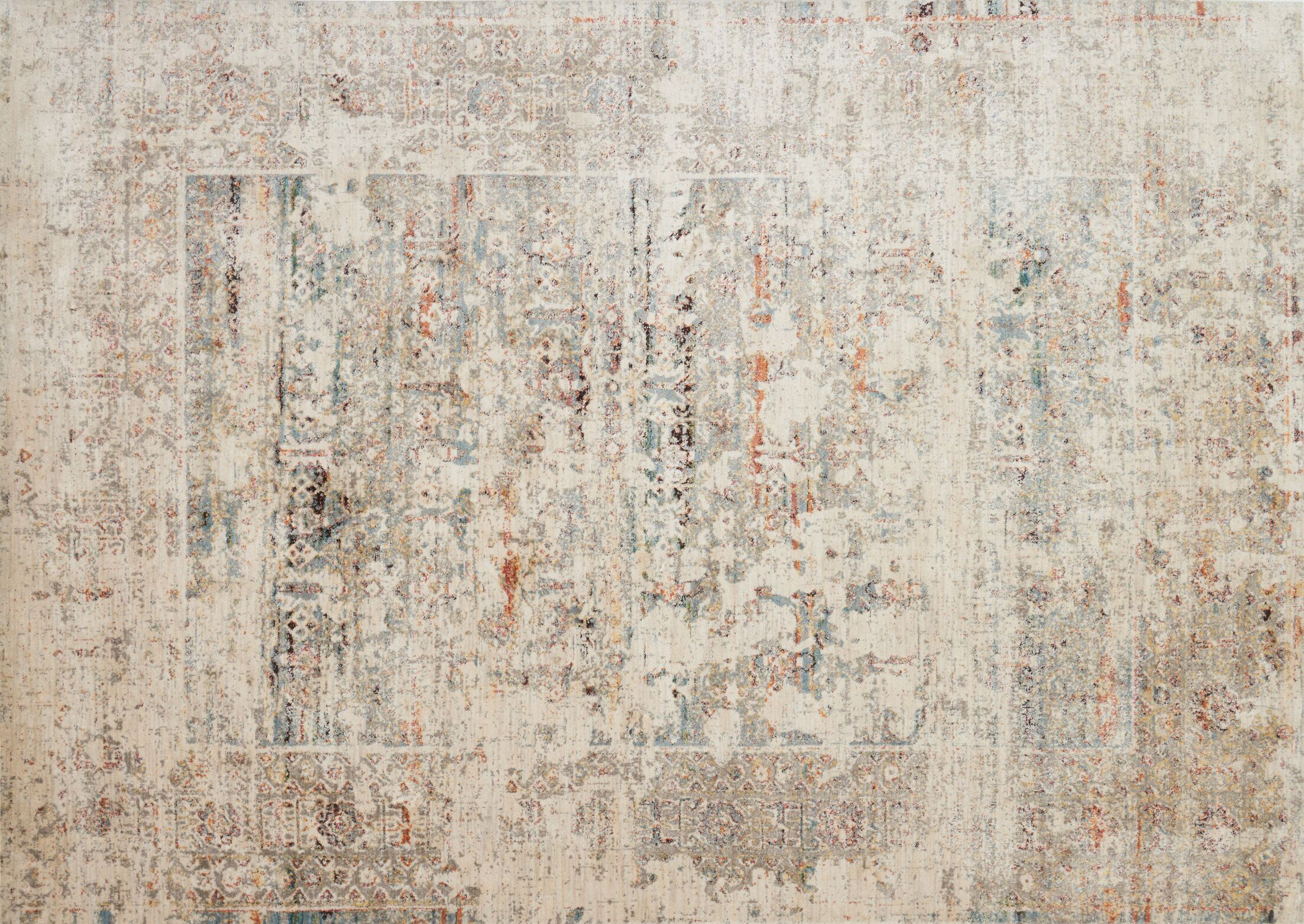Zanders Ivory/Granite Area Rug Rug Size: Rectangle 6'7