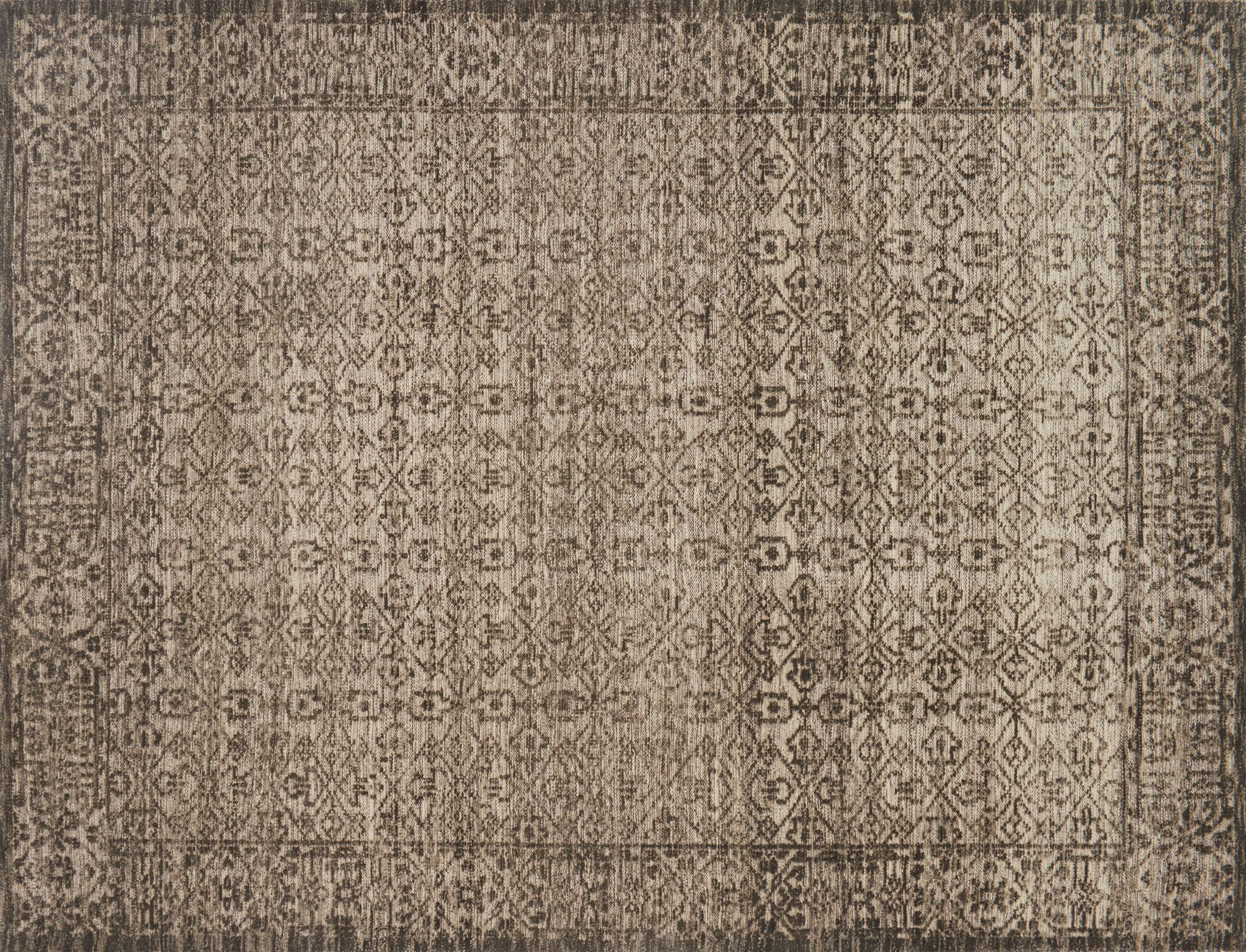 Pangle Hand-Knotted Brown Area Rug Rug Size: Rectangle 5'6