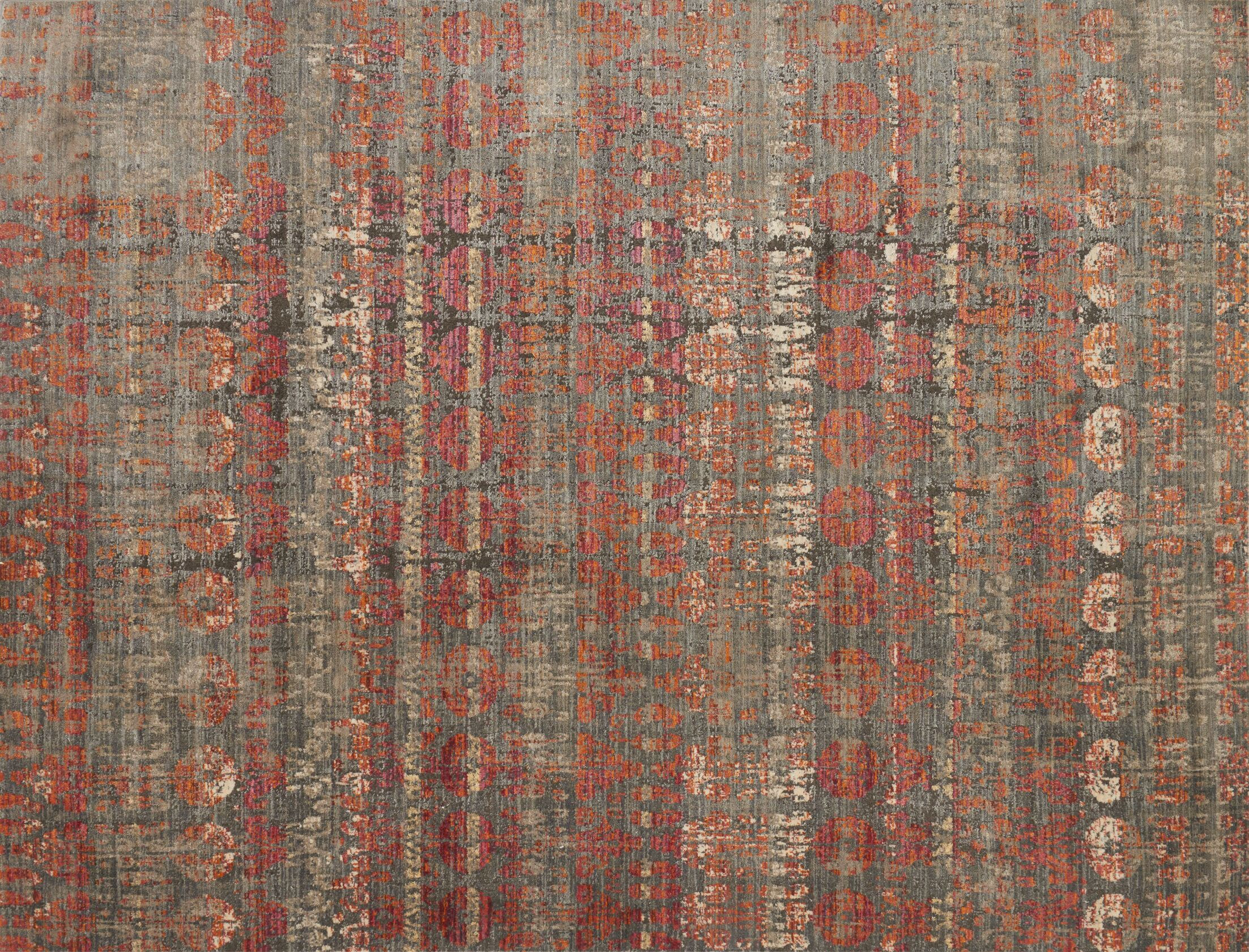 Zanders Gray/Sunrise Area Rug Rug Size: Rectangle 5'3