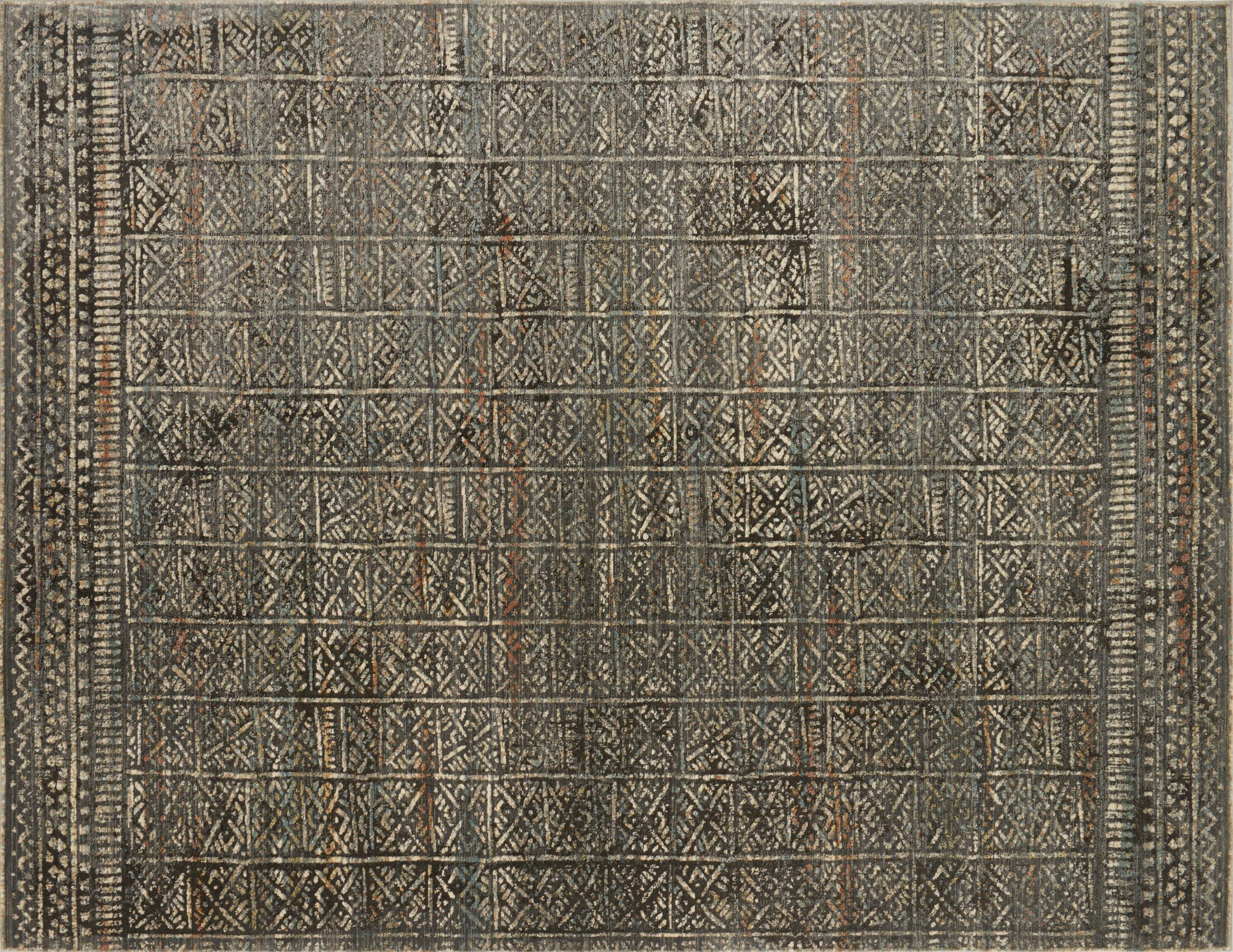 Zanders Charcoal/Silver Area Rug Rug Size: Rectangle 5'3