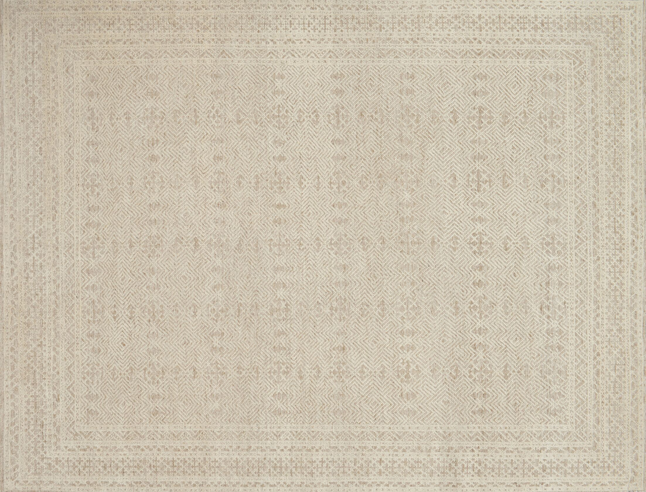 Parkerson Hand-Knotted Gray/Ivory Area Rug Rug Size: Rectangle 9' x 12'