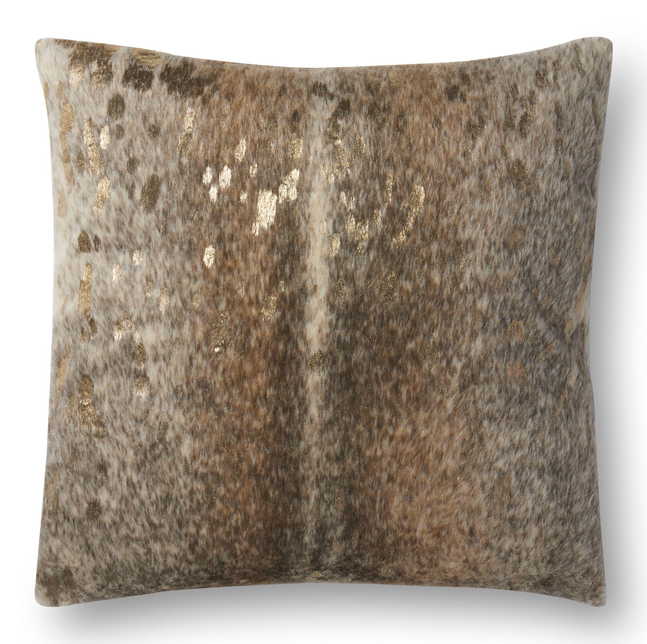 Knapp Throw Pillow Color: Khaki