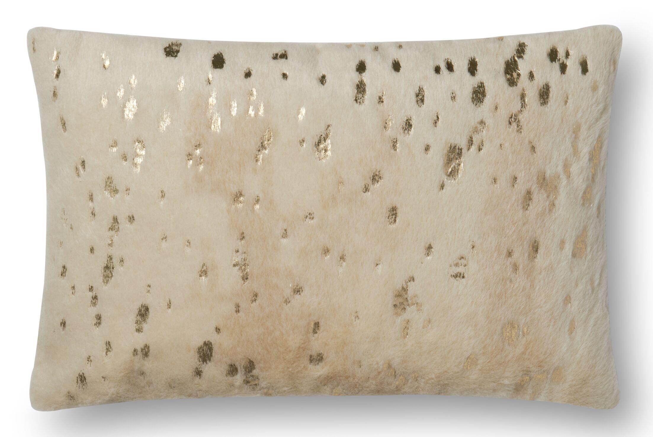 Heath Lumbar Pillow Color: Beige