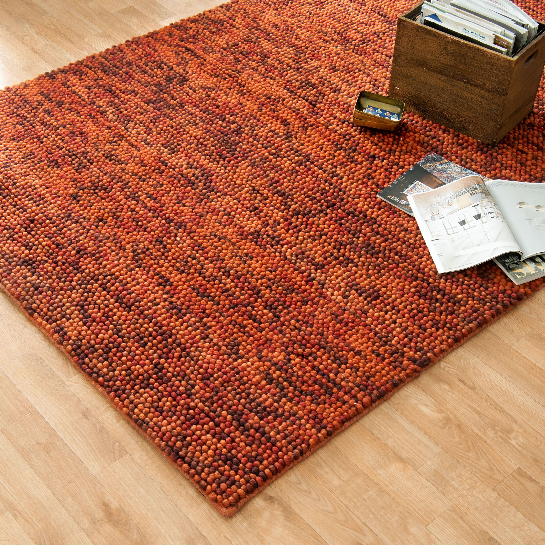 Auld Hand-Woven Rust/Brown Area Rug Rug Size: Rectangle 5' x 7'6