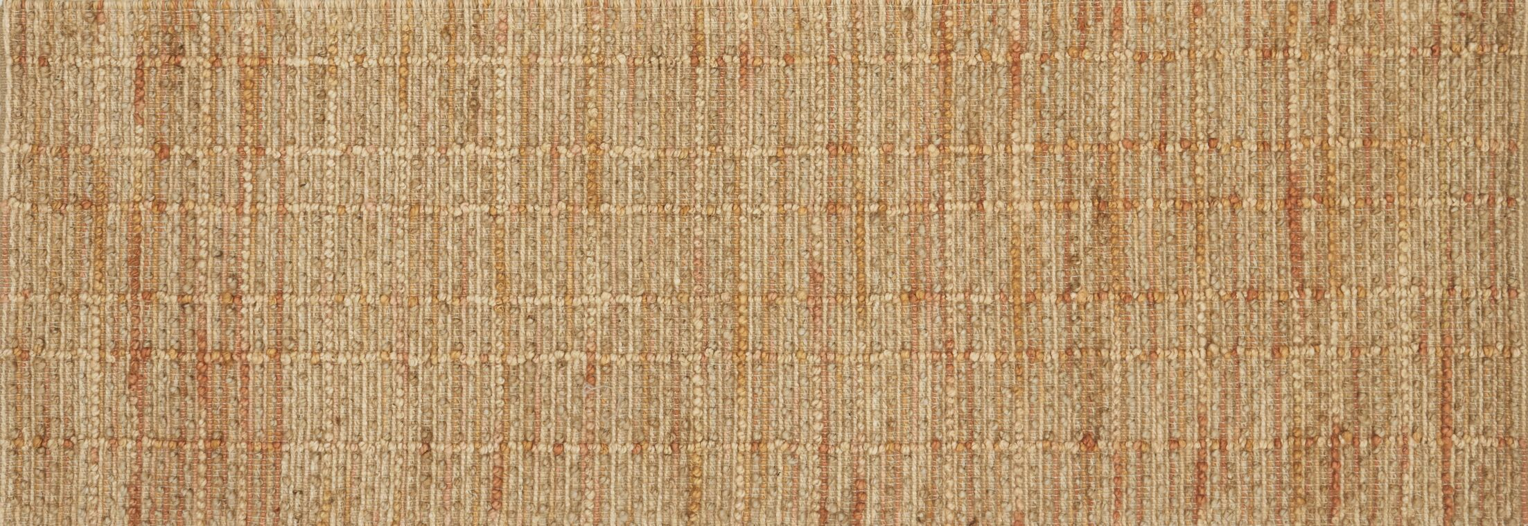 Pangkal Pinang Hand-Woven Tangerine Area Rug Rug Size: Runner 2'6