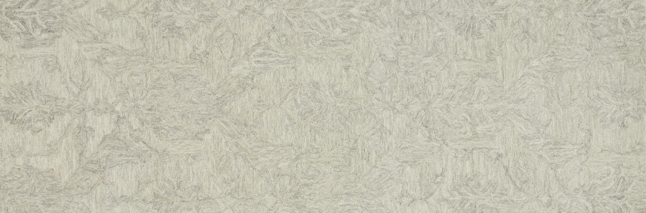 Darryl Hand-Hooked Mist Area Rug Rug Size: Runner 2'6