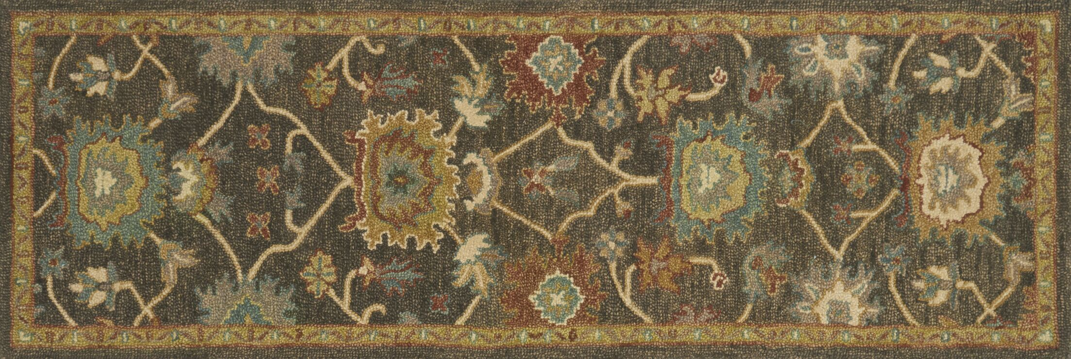 Durkee Gray/Brown Area Rug Rug Size: Rectangle 7'9