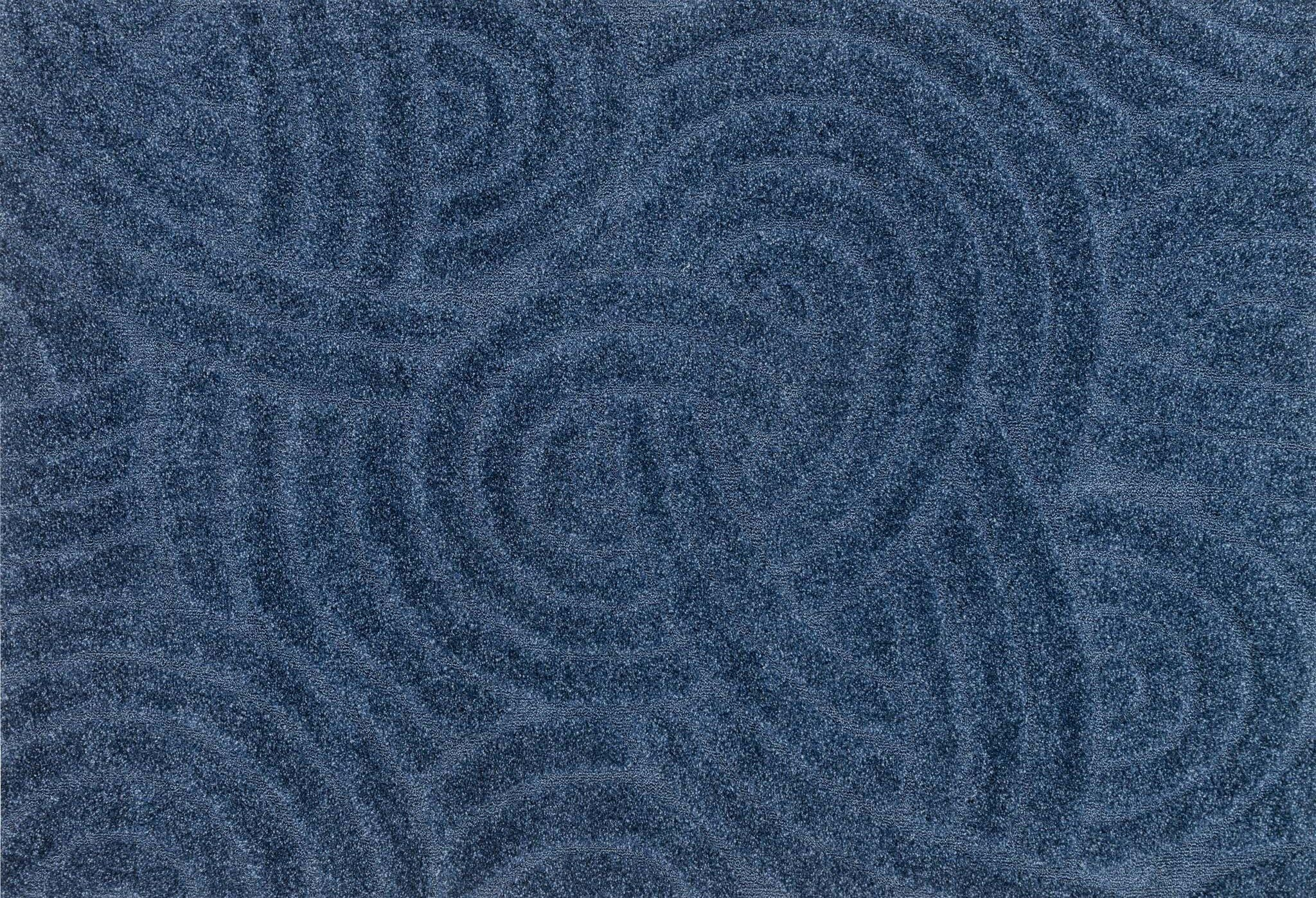 Dania Navy/Light Blue Area Rug Rug Size: Square 7'7