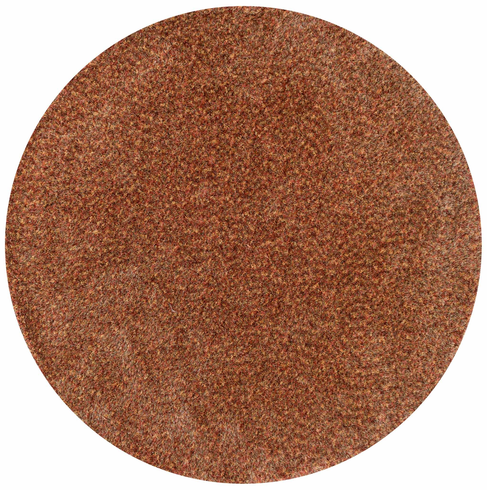 Hackel Hand-Tufted Brown Area Rug Rug Size: Round 7'10